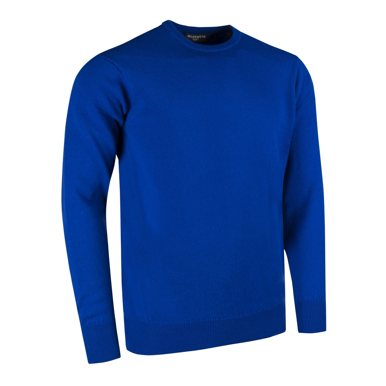 Glenmuir Morar Mens Crew Neck Sweater (S) (Bordeaux)