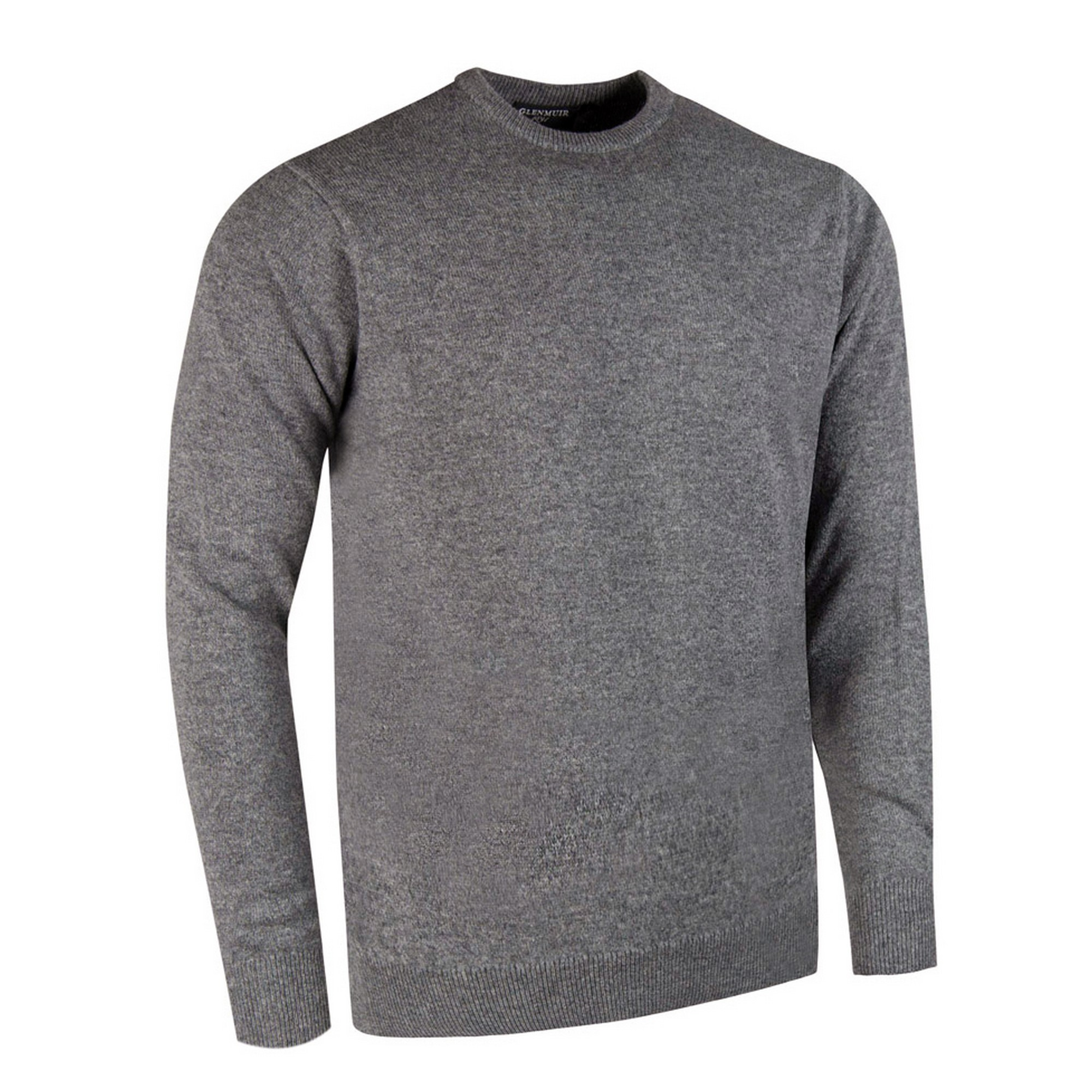 Glenmuir Morar Mens Crew Neck Sweater (L) (Charcoal)