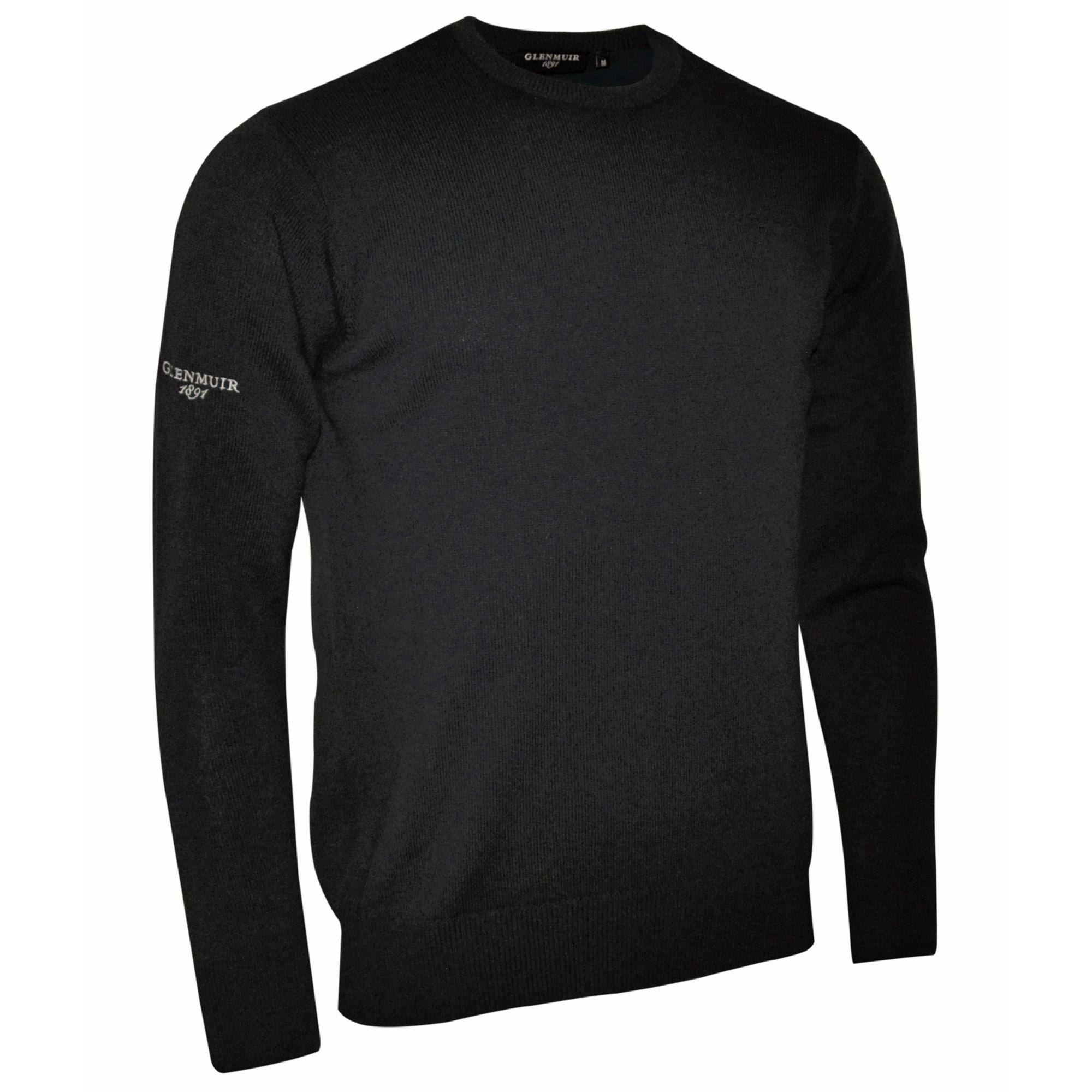 Glenmuir Morar Mens Crew Neck Sweater (2XL) (Black)