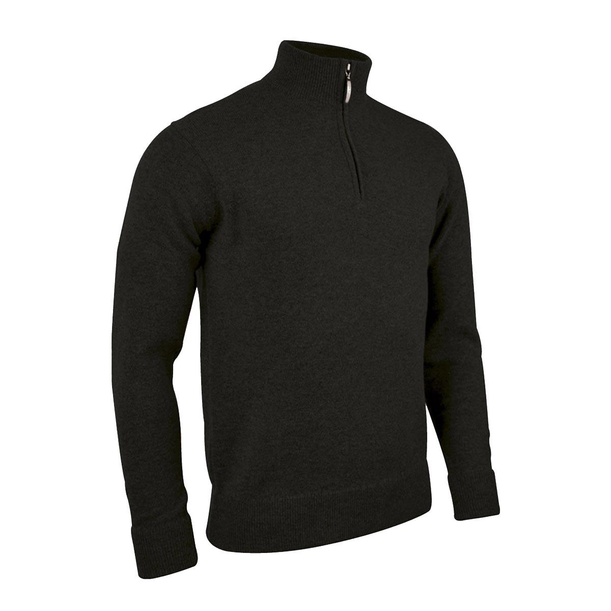 Glenmuir Oban - Lambswool 1/4 Zip Sweater / Sweatshirt (M) (Navy)