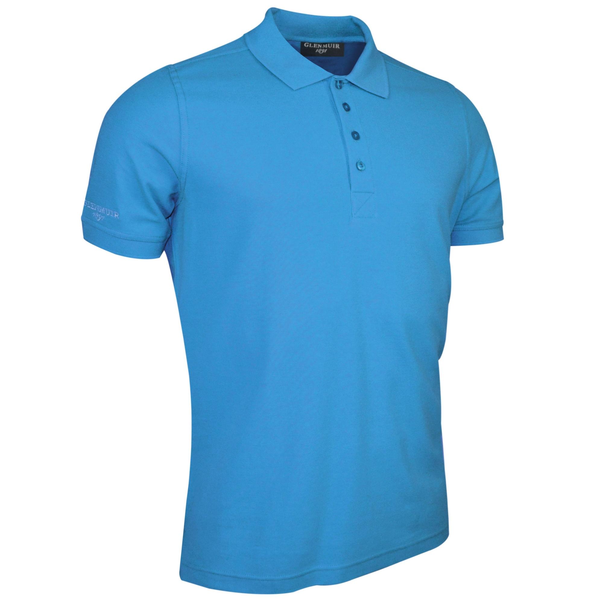 Glenmuir Kinlock - Mens Pique Polo Shirt (L) (Light Blue)