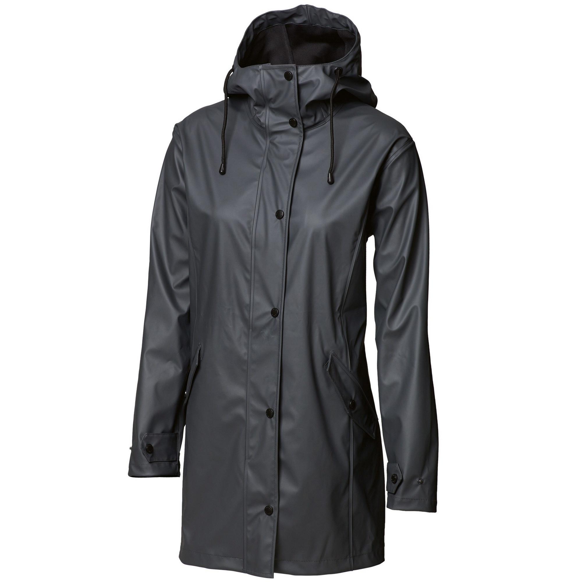 Nimbus Womens/Ladies Huntington Hooded Waterproof Fashion Raincoat (XS) (Charcoal)