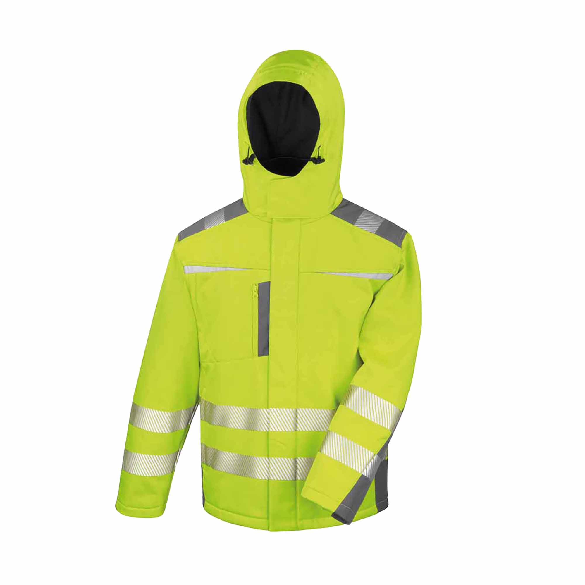 Result Safeguard Mens Dynamic Hi-Visibility Softshell Work Coat (M) (Yellow)