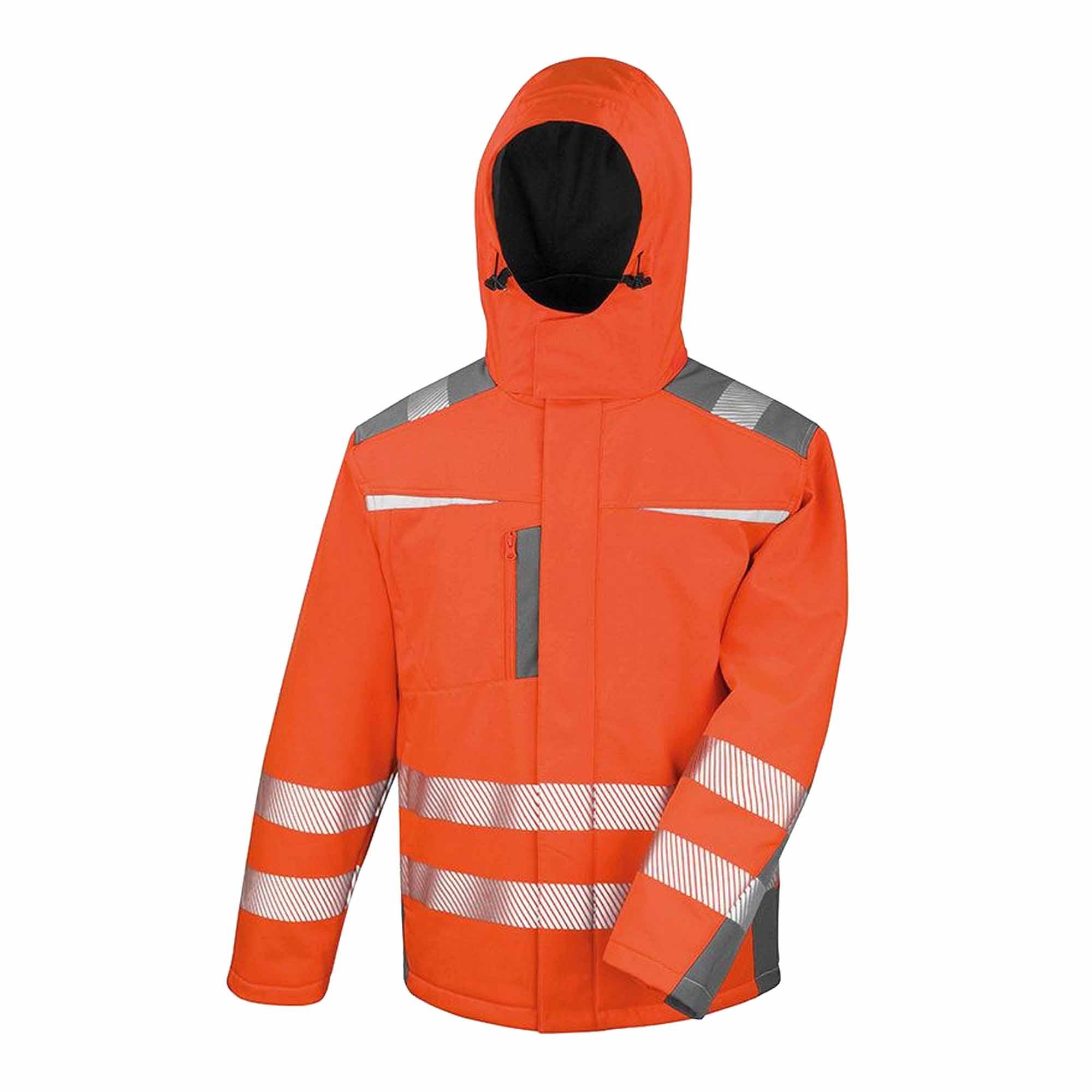 Result Safeguard Mens Dynamic Hi-Visibility Softshell Work Coat (M) (Orange)