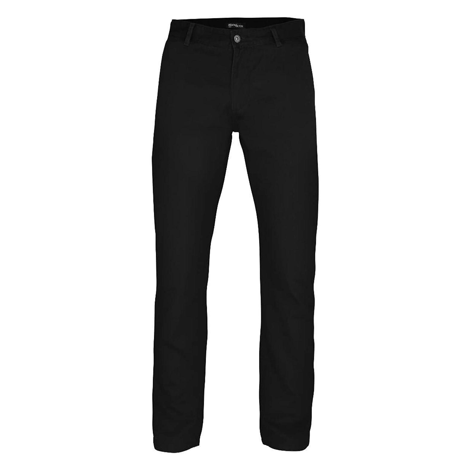 Asquith & Fox Mens Slim Fit Cotton Chino Trousers (3XLU) (Khaki)