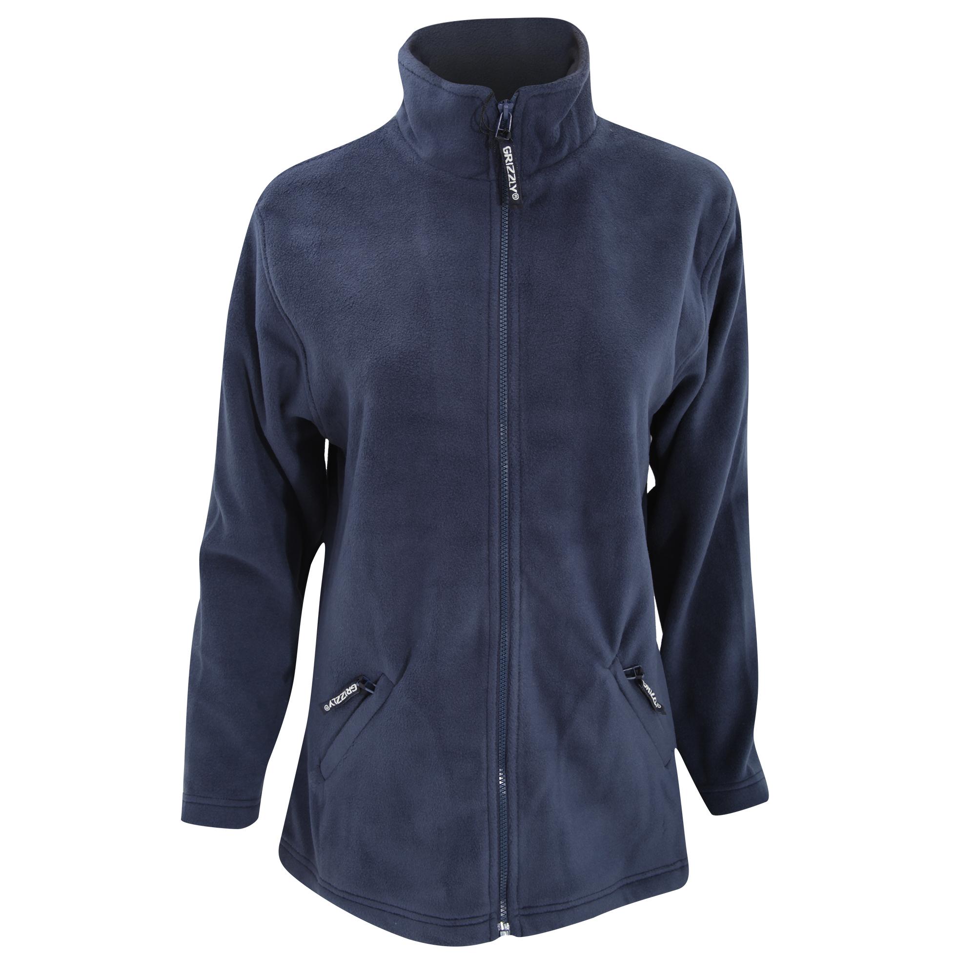 Grizzly Womens/Ladies Full Zip Active Fleece Jacket (XL) (Navy)
