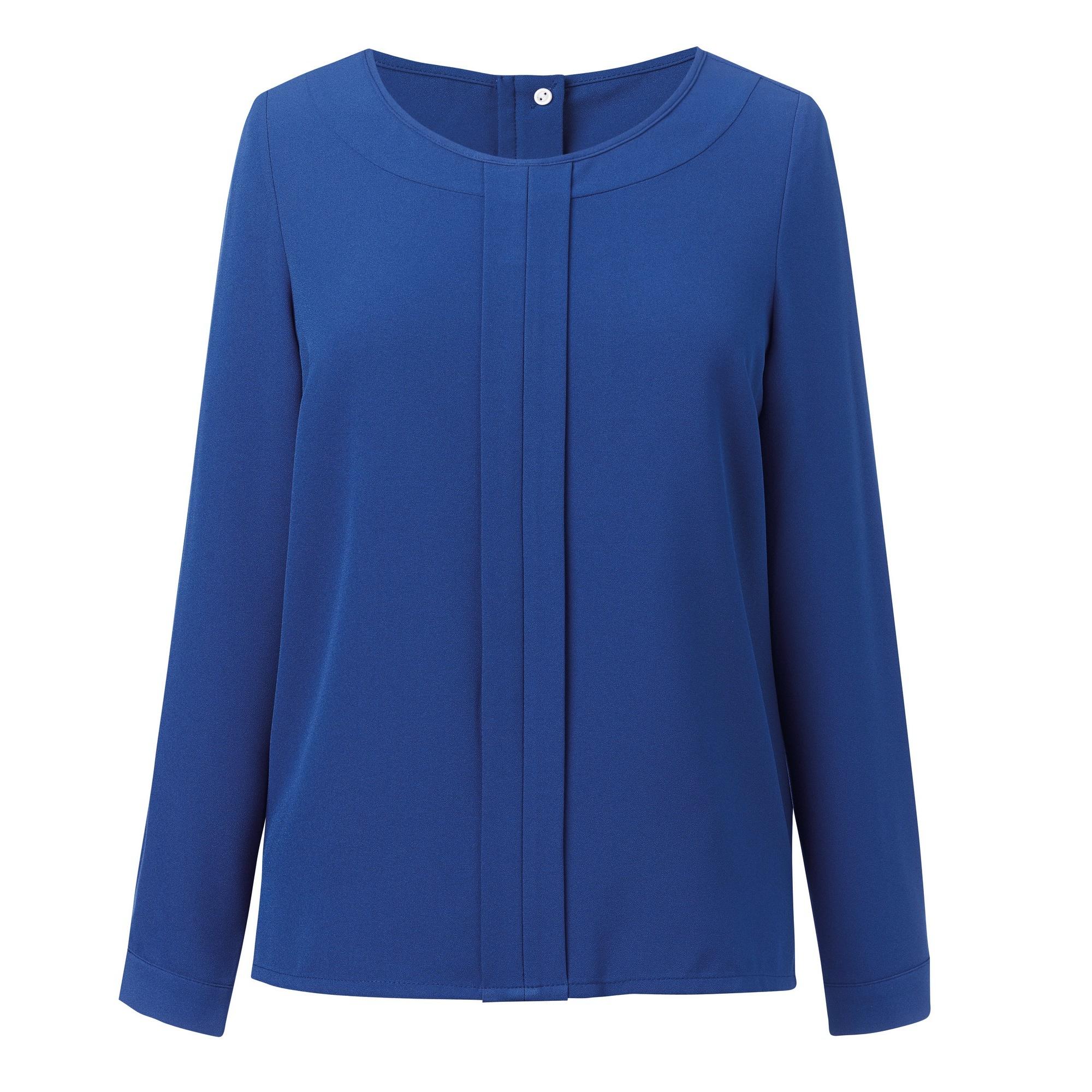 Brook Taverner Womens/Ladies Roma Crepe De Chine Long Sleeved Blouse (16) (Royal Blue)