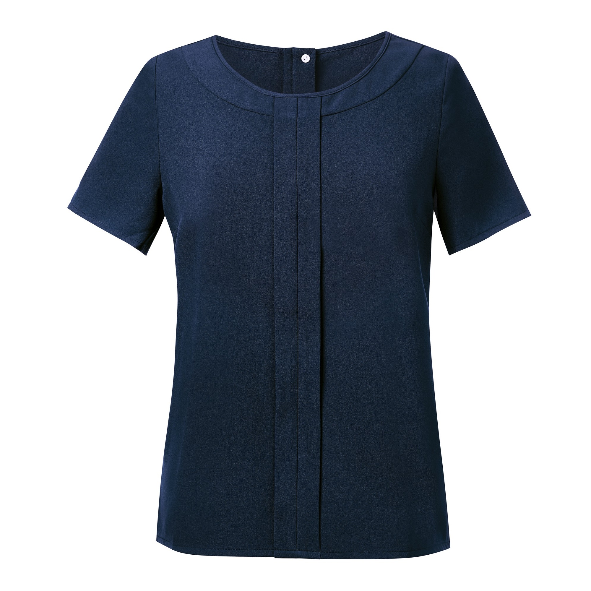 Brook Taverner Womens/Ladies Verona Crepe De Chine Short Sleeved Blouse (14) (Navy)