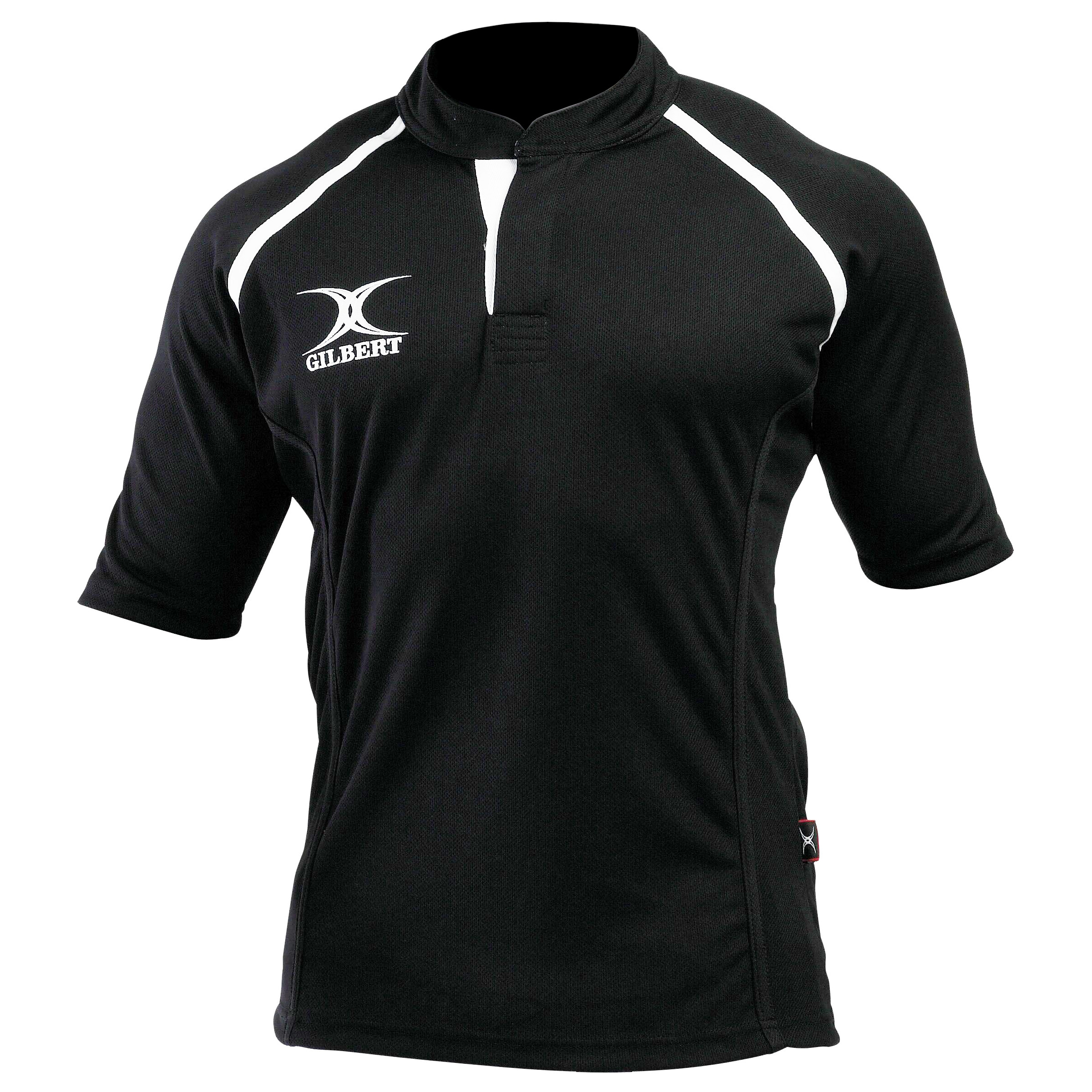 Gilbert Rugby Mens Xact Game Day Short Sleeved Rugby Shirt (XS) (Black)