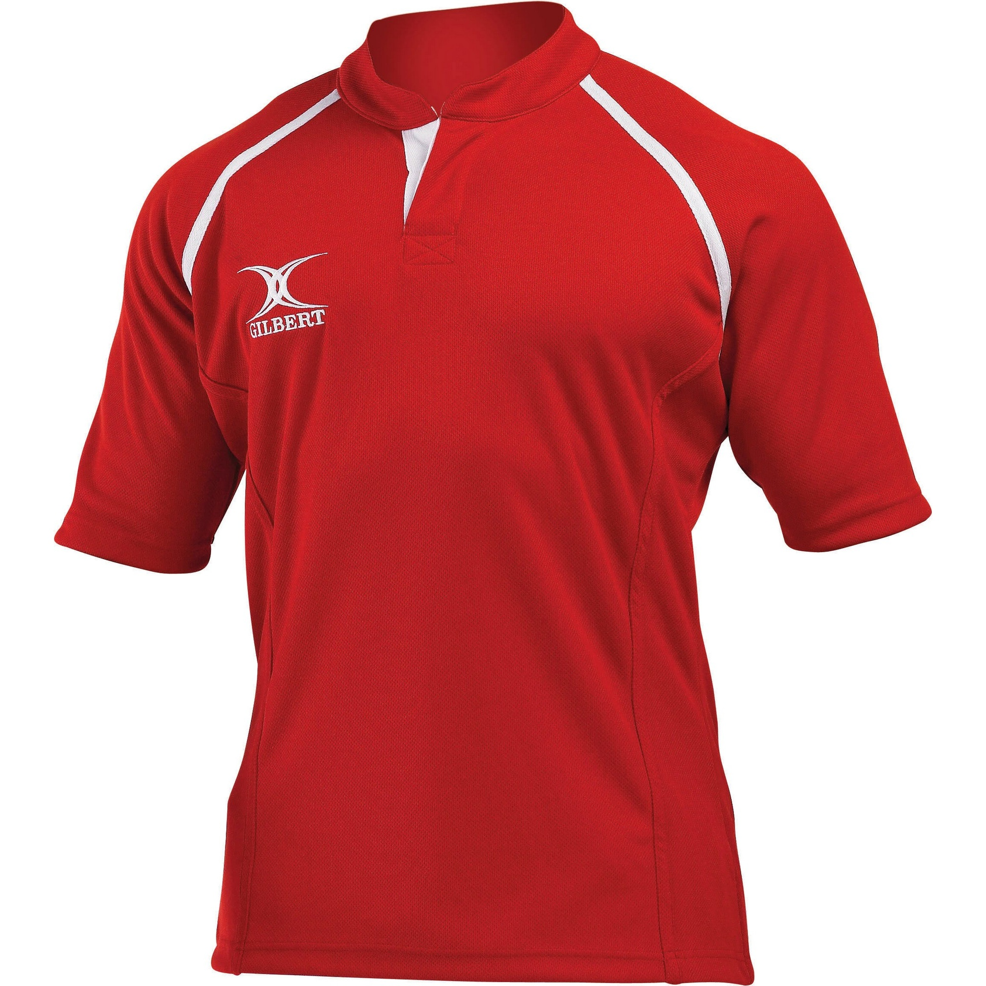 Gilbert Rugby Mens Xact Game Day Short Sleeved Rugby Shirt (3XL) (Red)