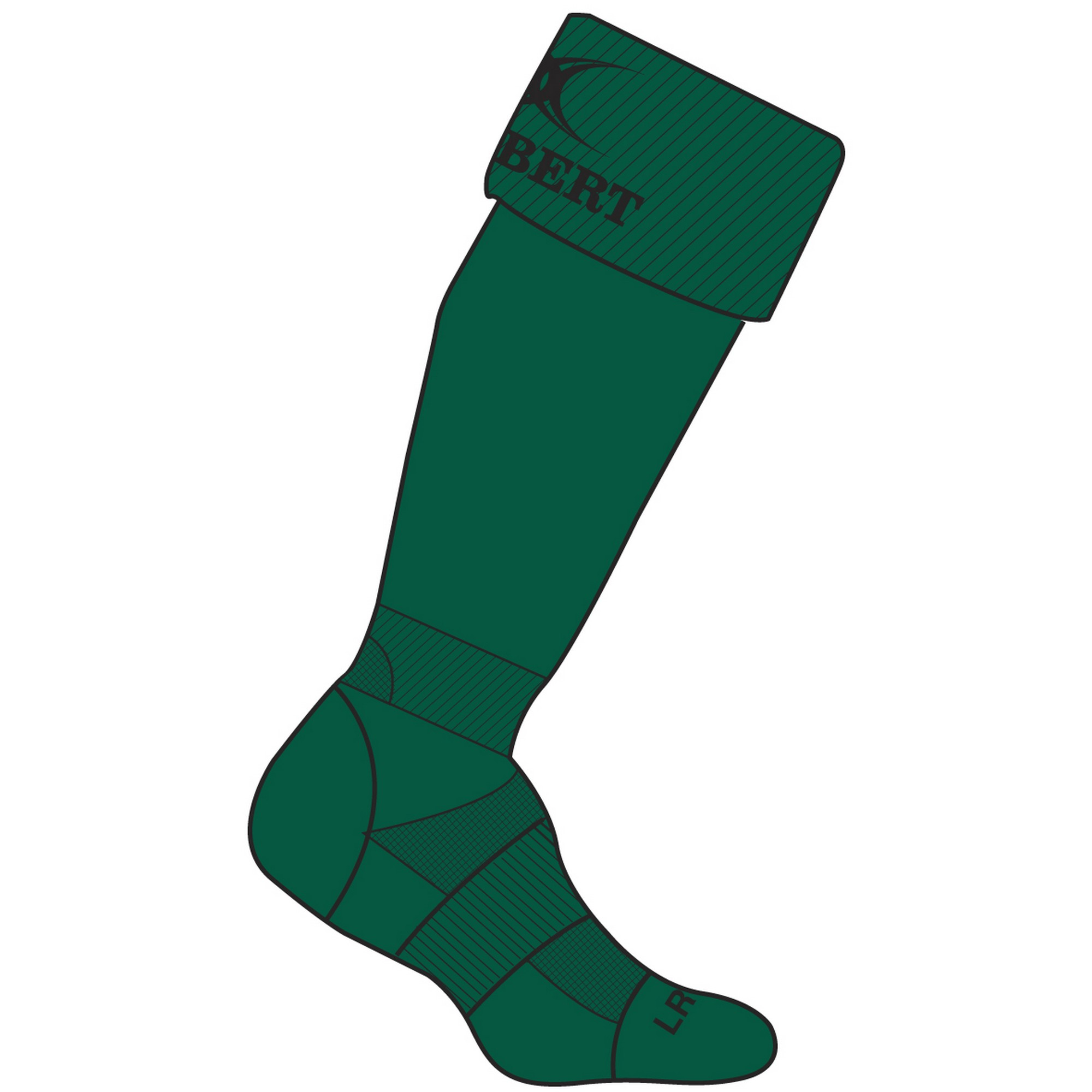 Gilbert Rugby Childrens/Kids Kryten II Rugby Socks (3-6 UK) (Green)
