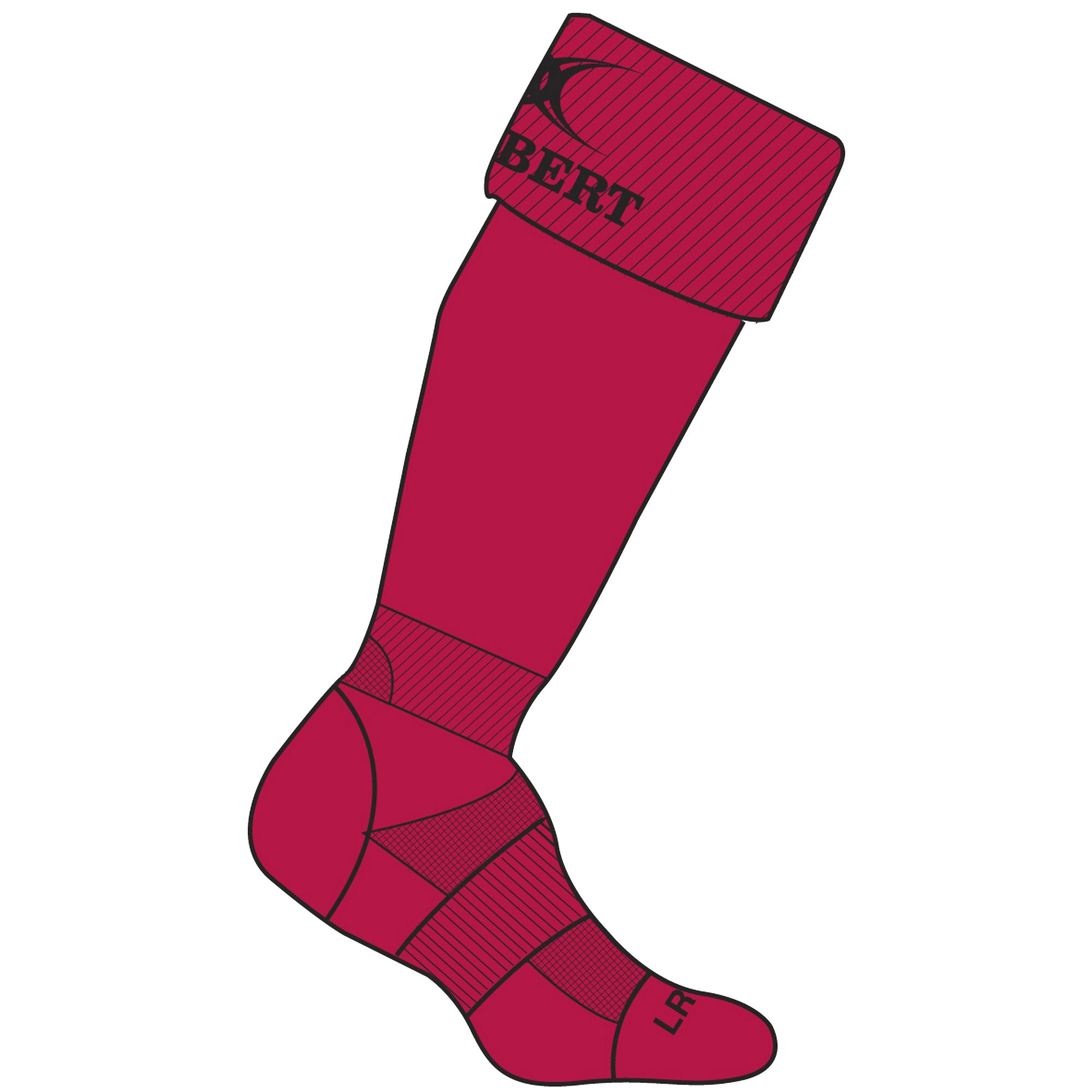 Gilbert Rugby Childrens/Kids Kryten II Rugby Socks (3-6 UK) (Red)