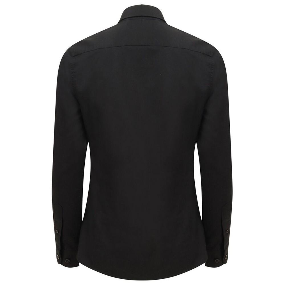 Henbury-Camisa-Oxford-de-manga-larga-para-mujer-RW5424