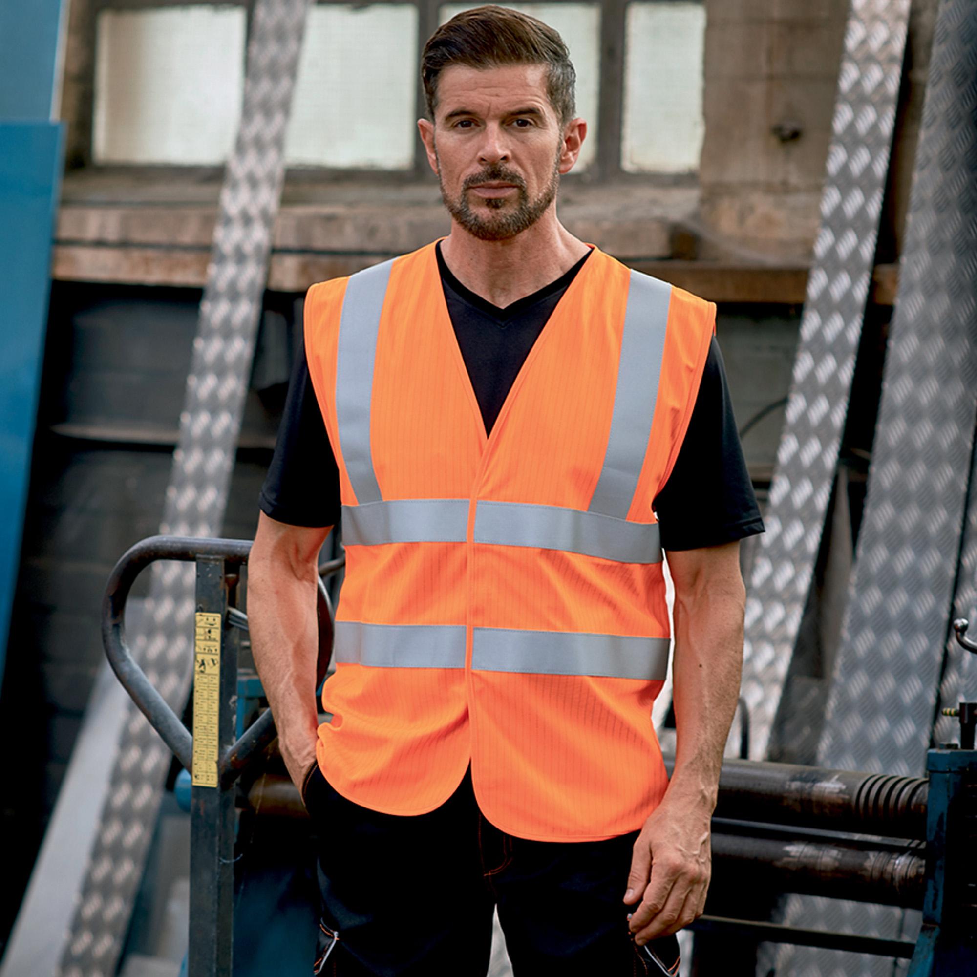 Yoko Flame-Retardant Hi-Vis Sleeveless Waistcoat (S) (Yellow)