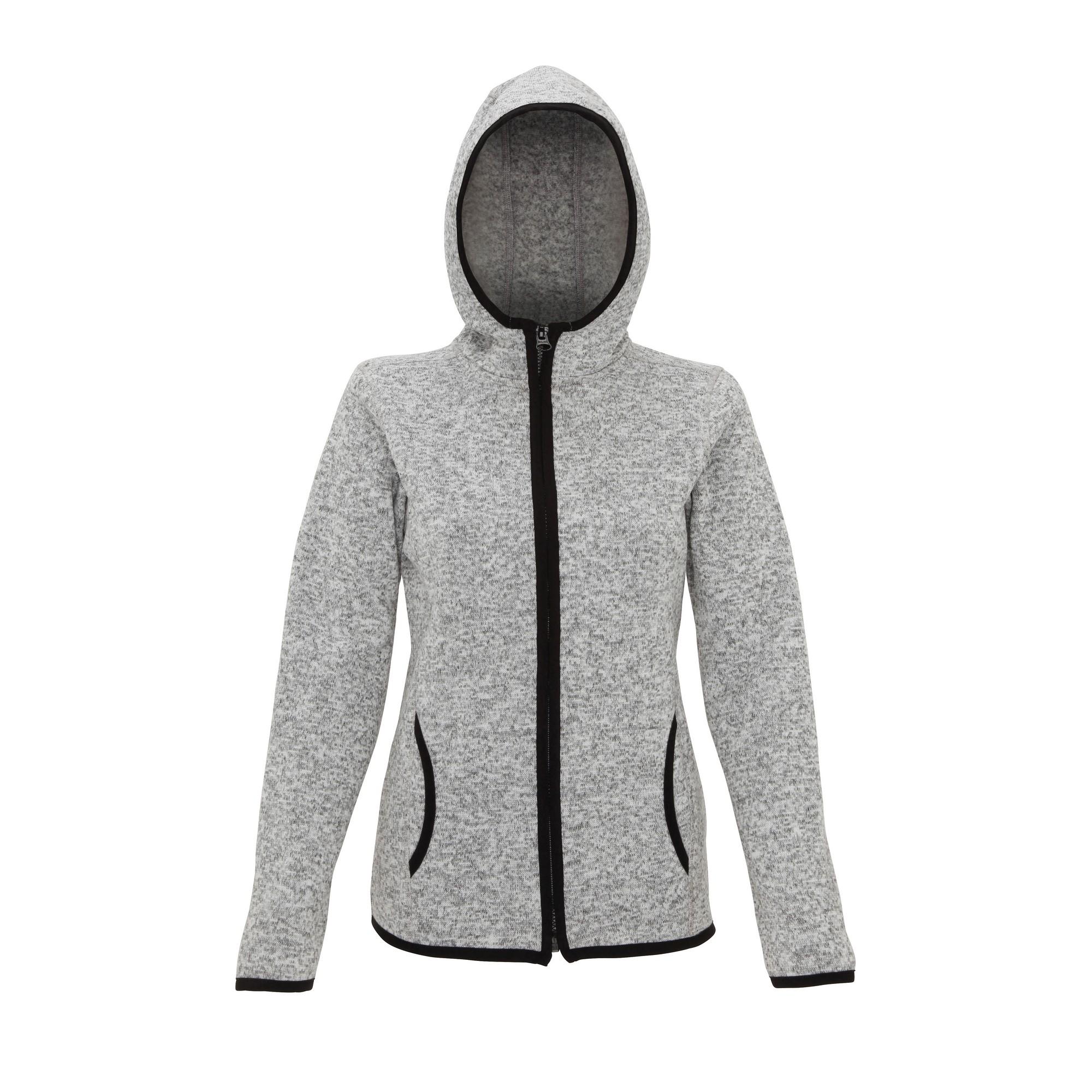 Tri Dri Womens/Ladies Melange Knit Fleece Jacket (XS) (Charcoal/Black Fleck)