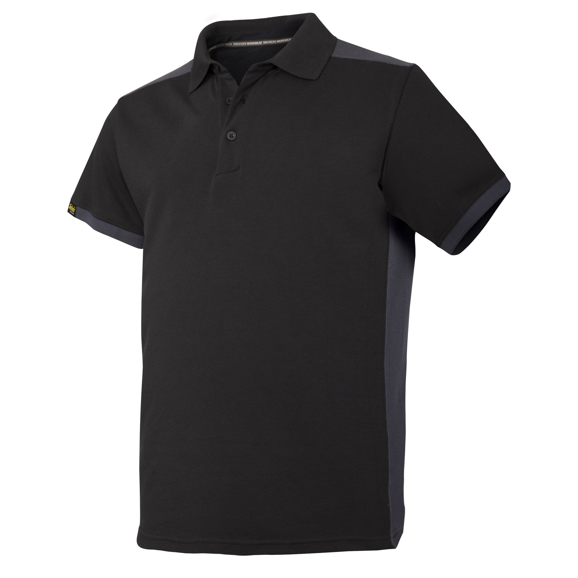 Snickers Mens AllroundWork Short Sleeve Polo Shirt (L) (Black/Steel Grey)