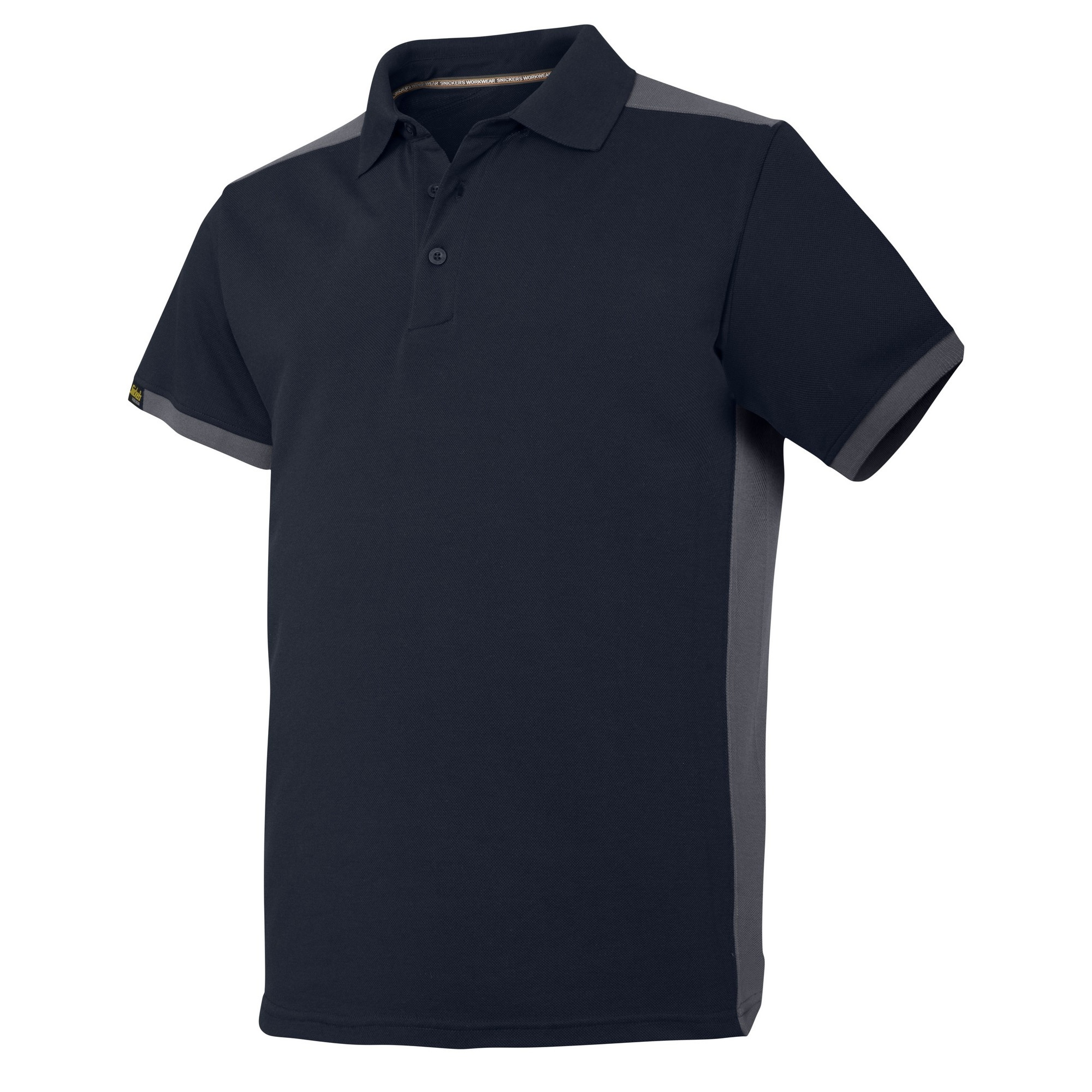 Snickers Mens AllroundWork Short Sleeve Polo Shirt (XL) (Navy/Steel Grey)