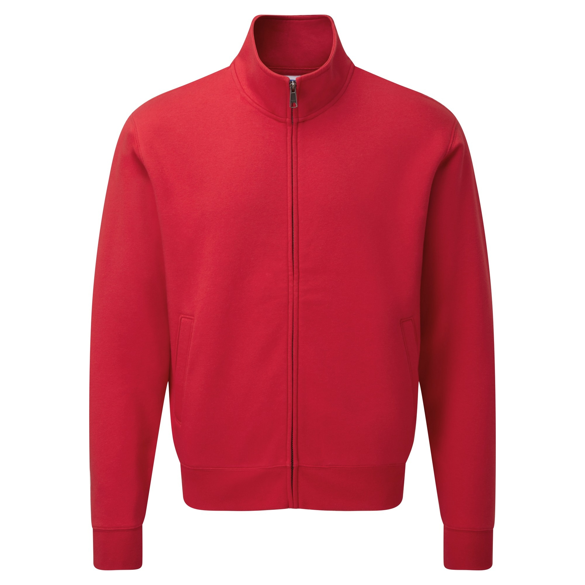 Russell Mens Authentic Full Zip Sweatshirt Jacket (3XL) (Classic Red)