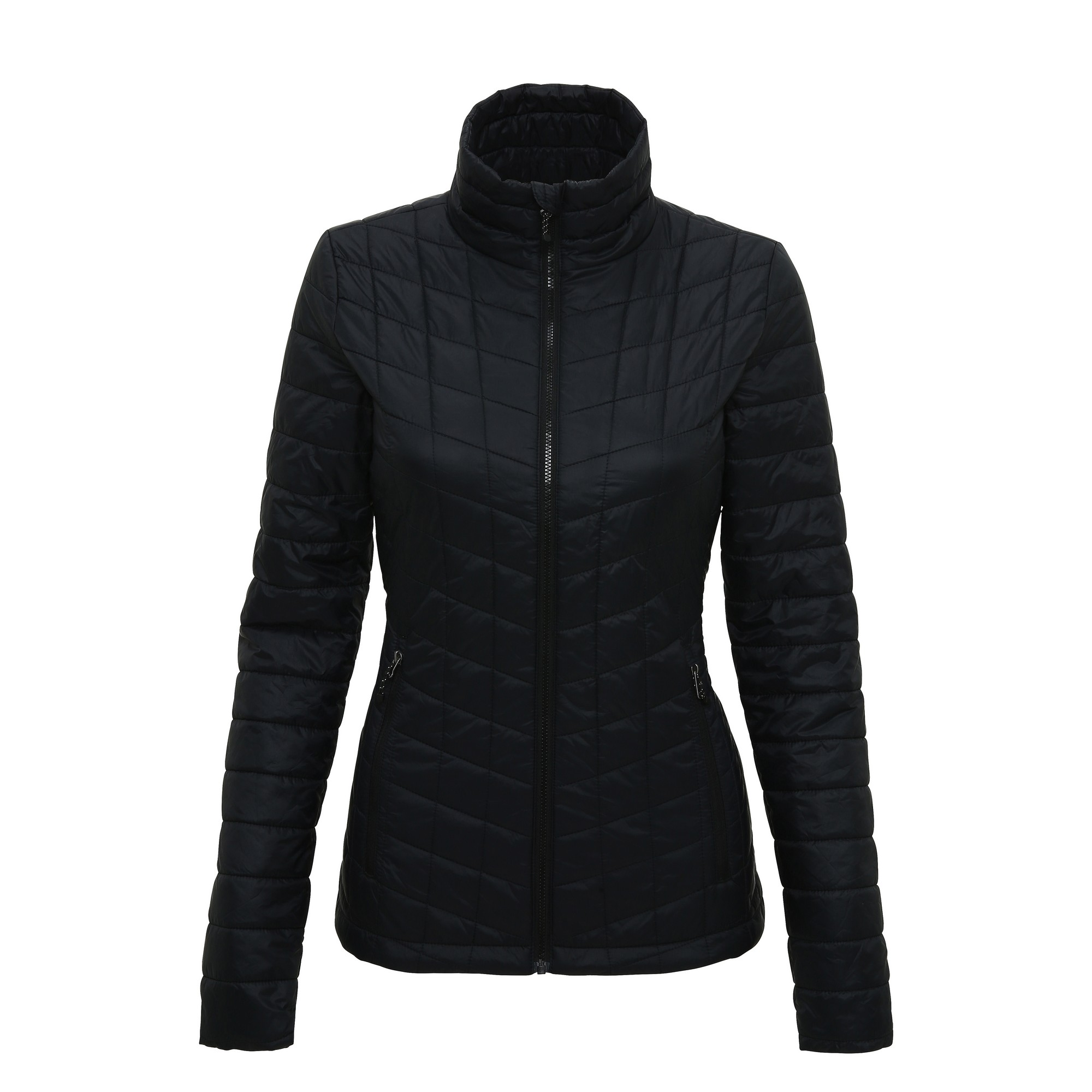 Tri Dri Womens/Ladies Ultralight Thermo Quilt Jacket (M) (Black)