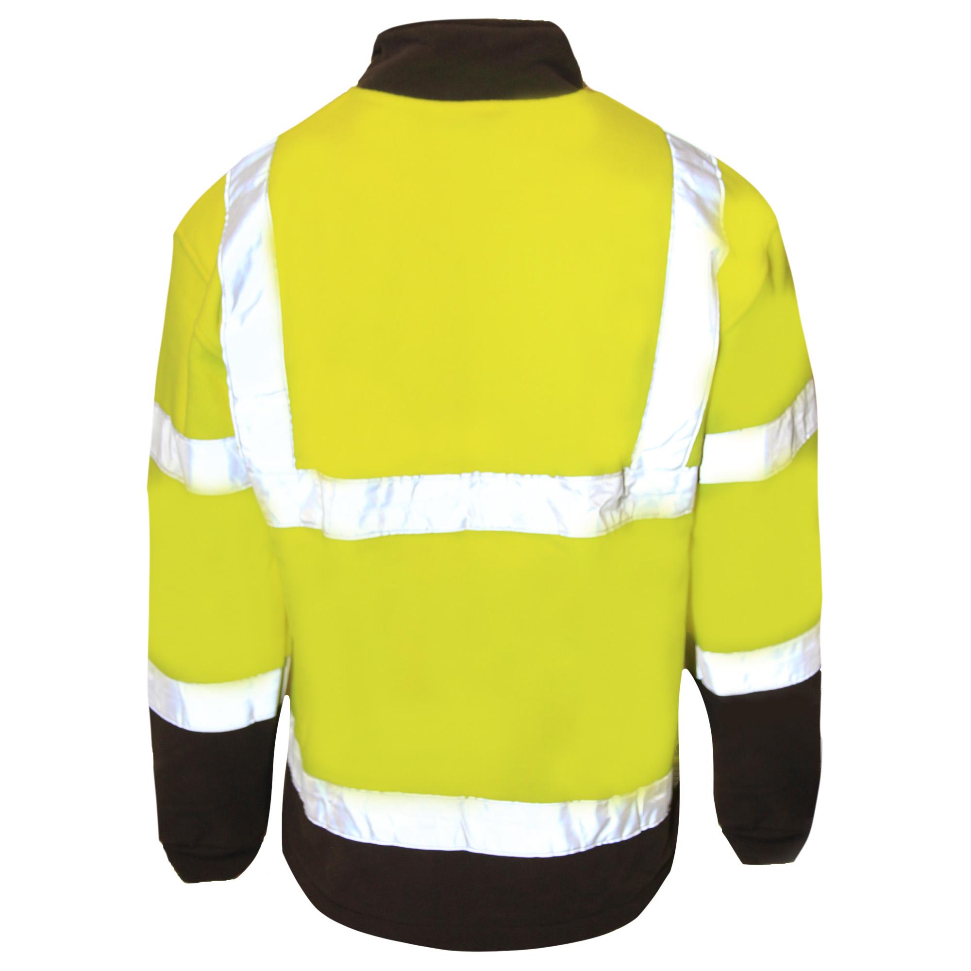 Result Core Mens Reflective Safety Micro Fleece Jacket (S) (Orange)
