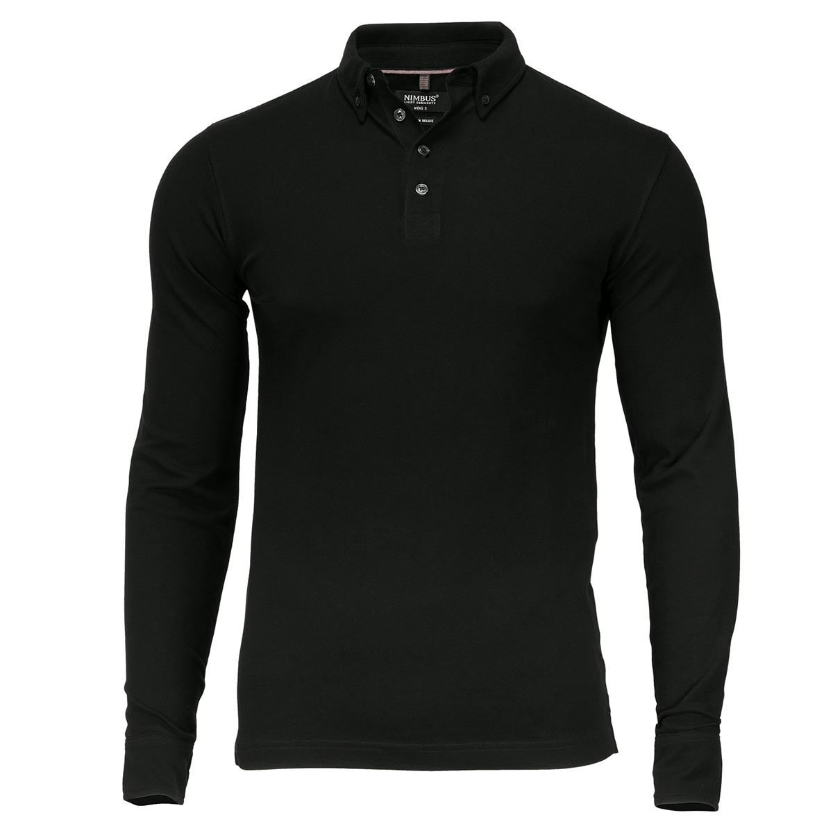 Nimbus Mens Carlington Deluxe Long Sleeve Polo Shirt (2XL) (White)
