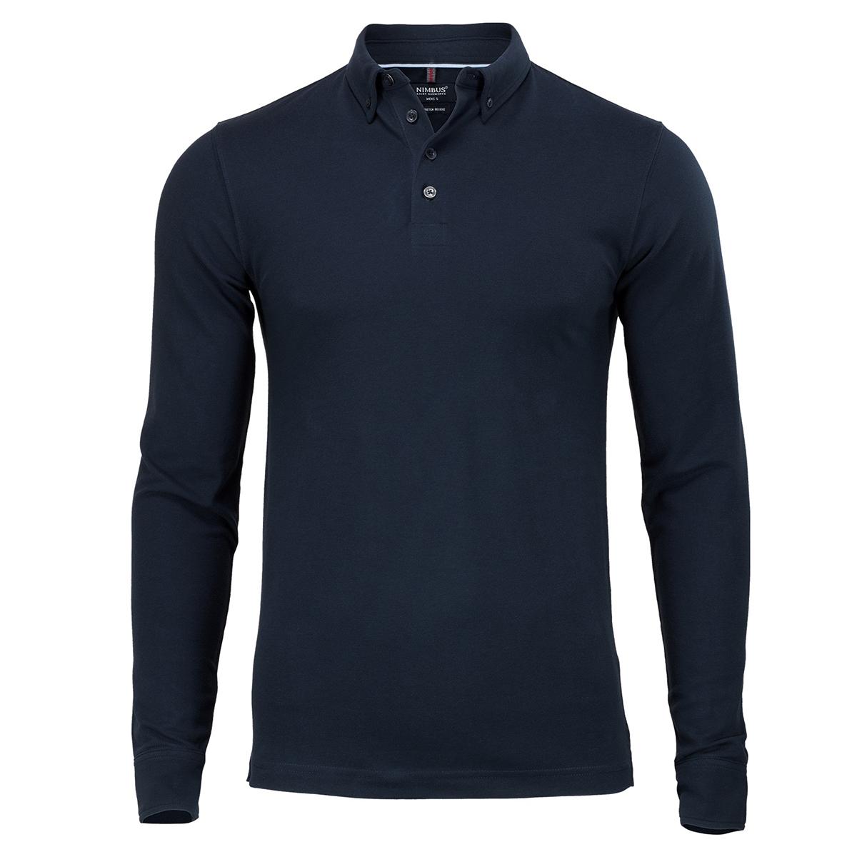 Nimbus Mens Carlington Deluxe Long Sleeve Polo Shirt (3XL) (Black)