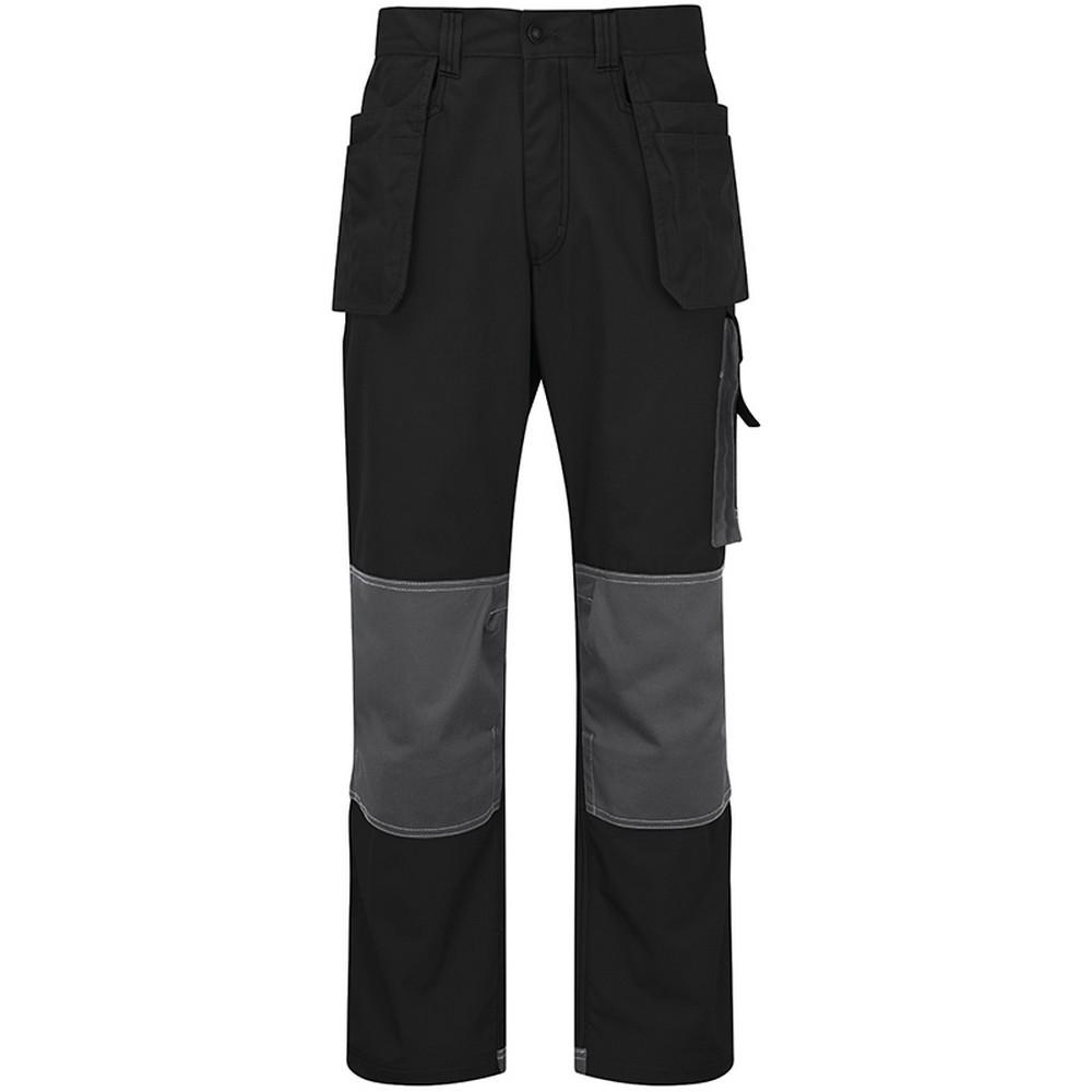 Alexandra Mens Tungsten Holster Work Trousers (36T) (Black/Grey)