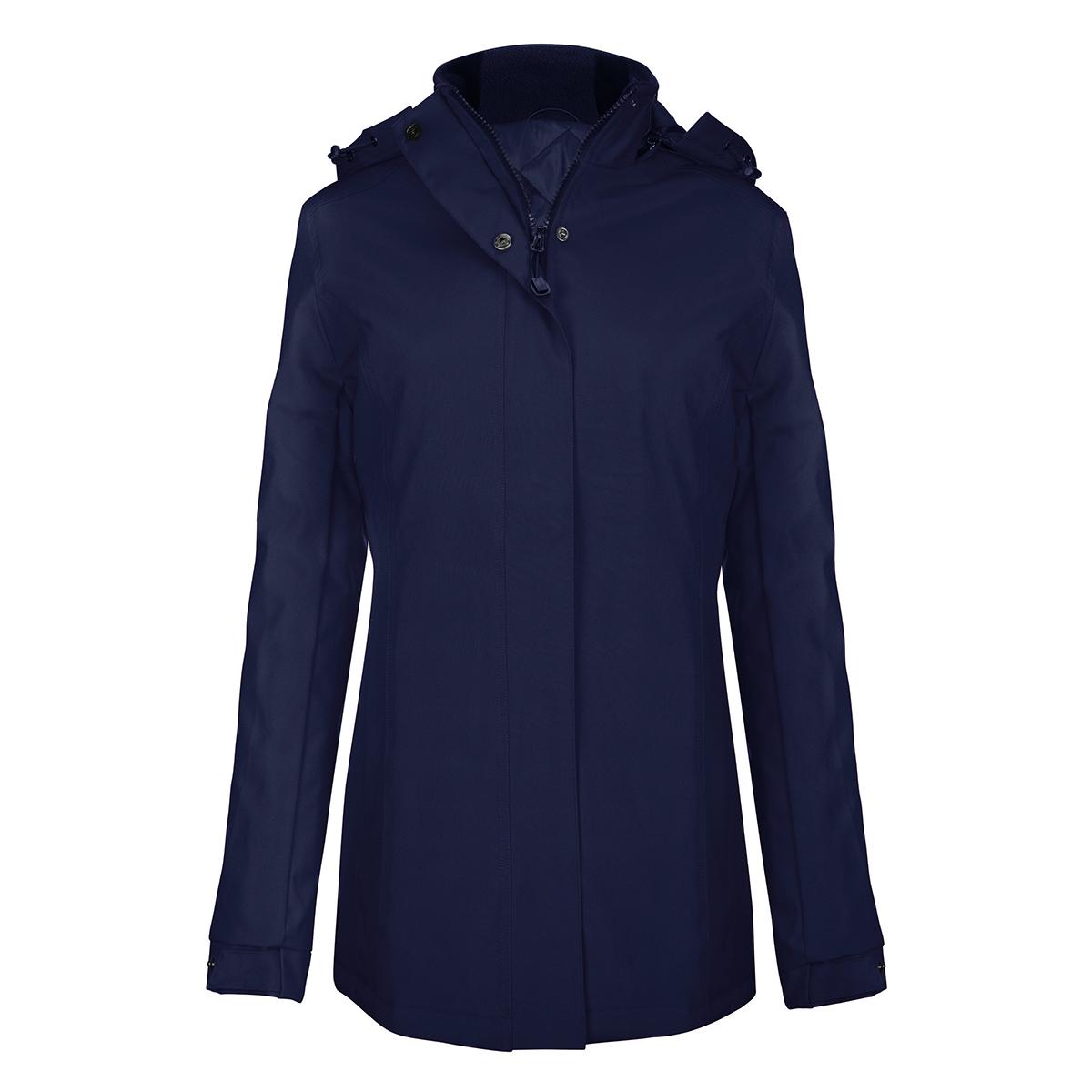 Kariban Womens/Ladies Parka Jacket (XL) (Navy)
