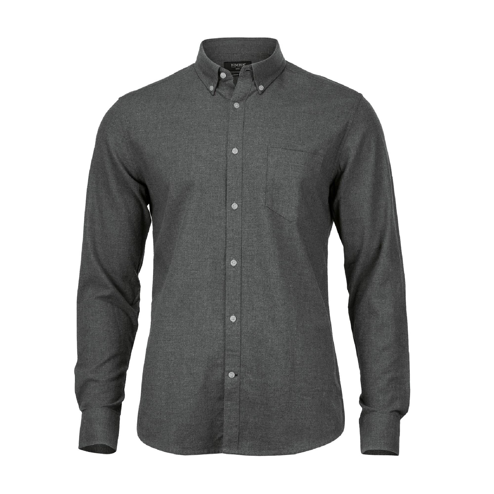 Nimbus Mens Calverton Luxury Flannel Shirt (XL) (Stone Grey)
