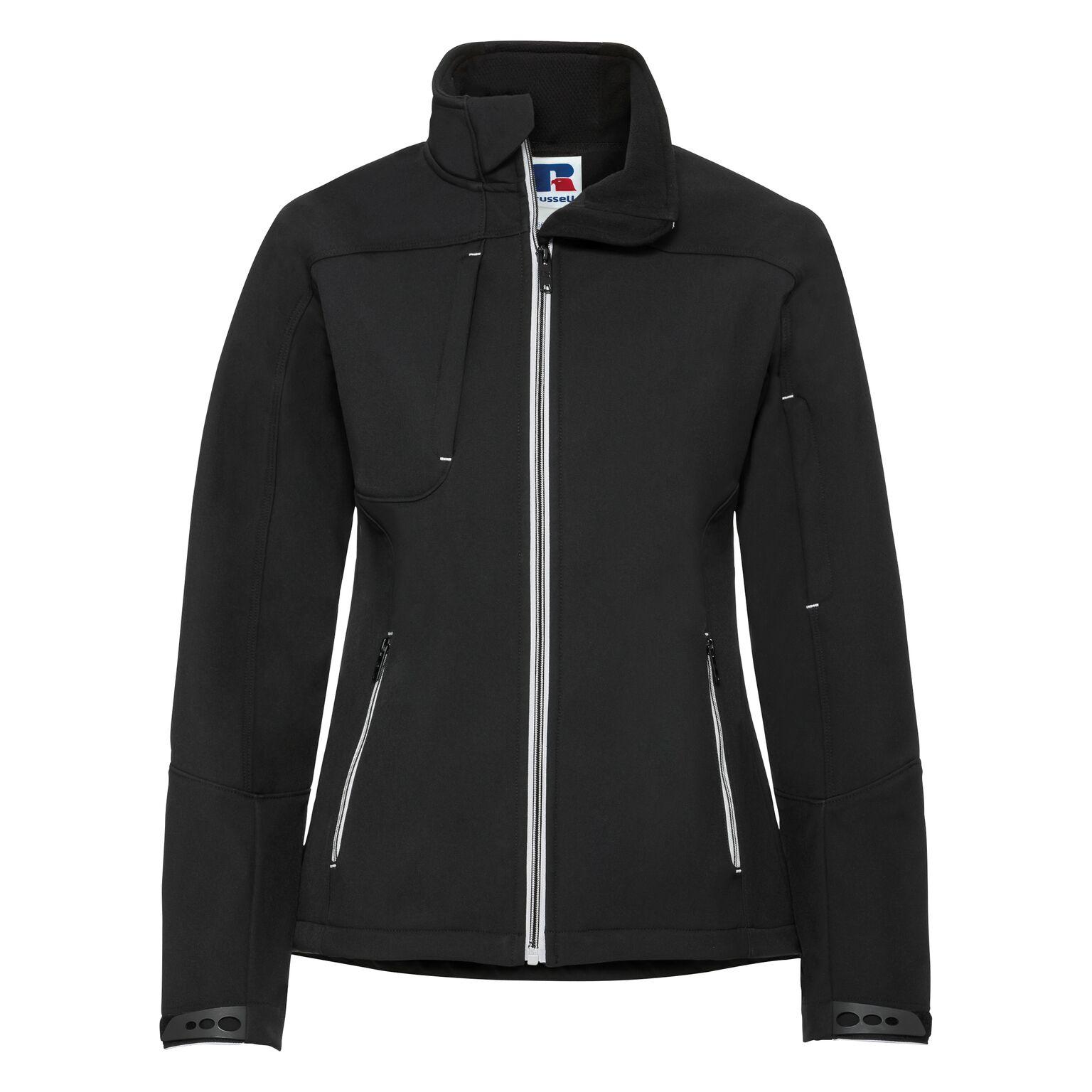 Russell Women/Ladies Bionic Softshell Jacket (XL) (Black)