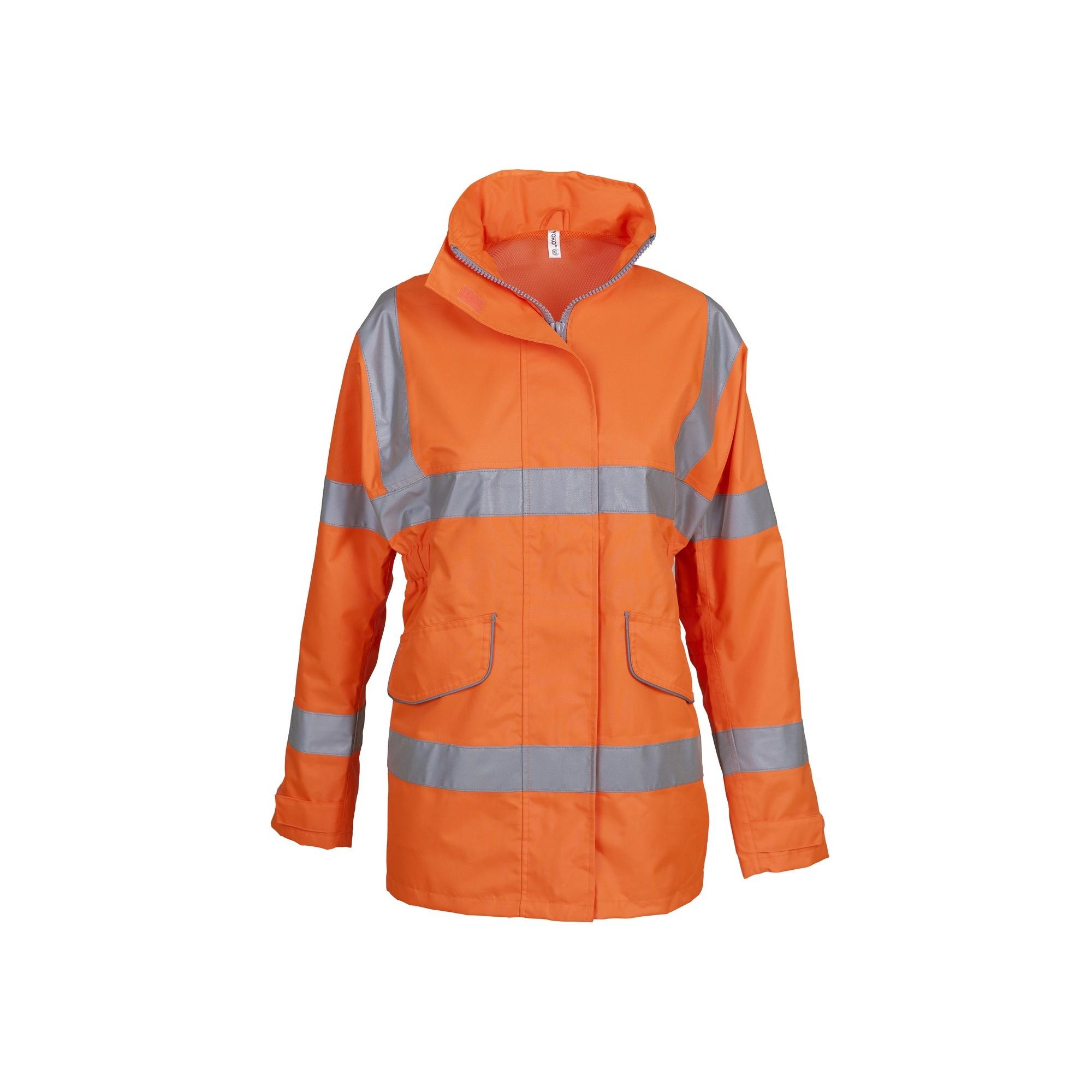 Yoko Womens/Ladies Hi-Vis Executive Jacket (XL) (Orange)