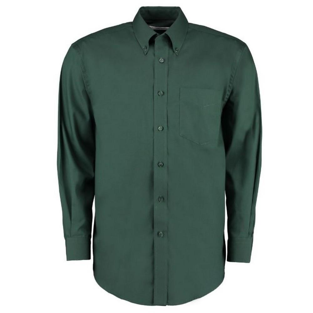 Kustom Kit Mens Corporate Long Sleeve Oxford Shirt (22in) (Bottle Green)