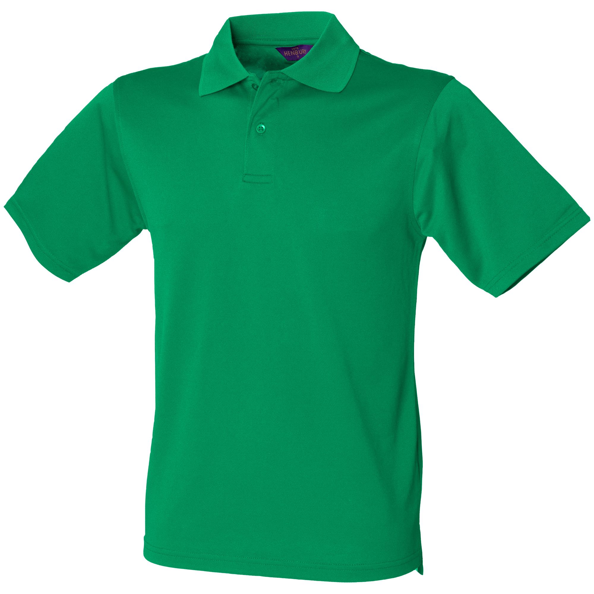 Henbury Mens Coolplus® Pique Polo Shirt (XL) (Burnt Orange)