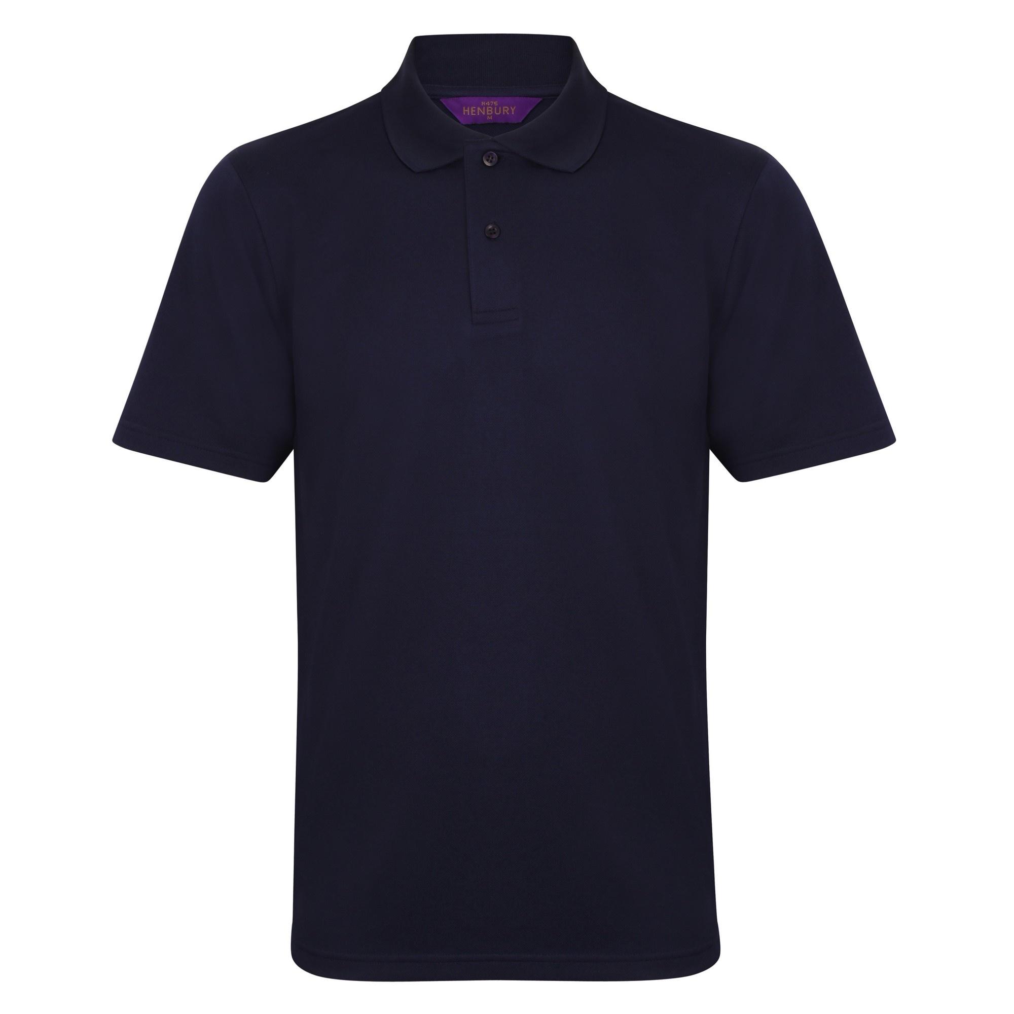 Henbury Mens Coolplus® Pique Polo Shirt (3XL) (Silver Grey)