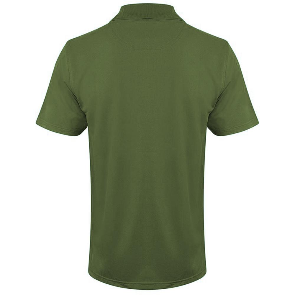 Henbury Mens Coolplus® Pique Polo Shirt (L) (Heather Navy)