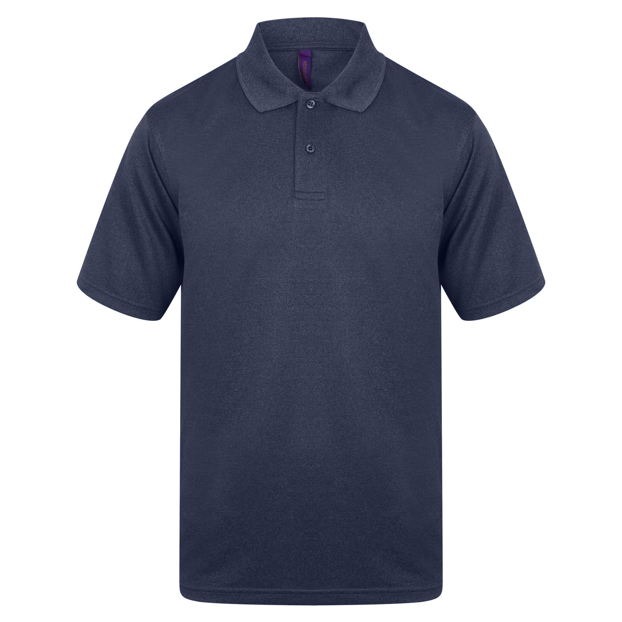 Henbury Mens Coolplus® Pique Polo Shirt (3XL) (Red)