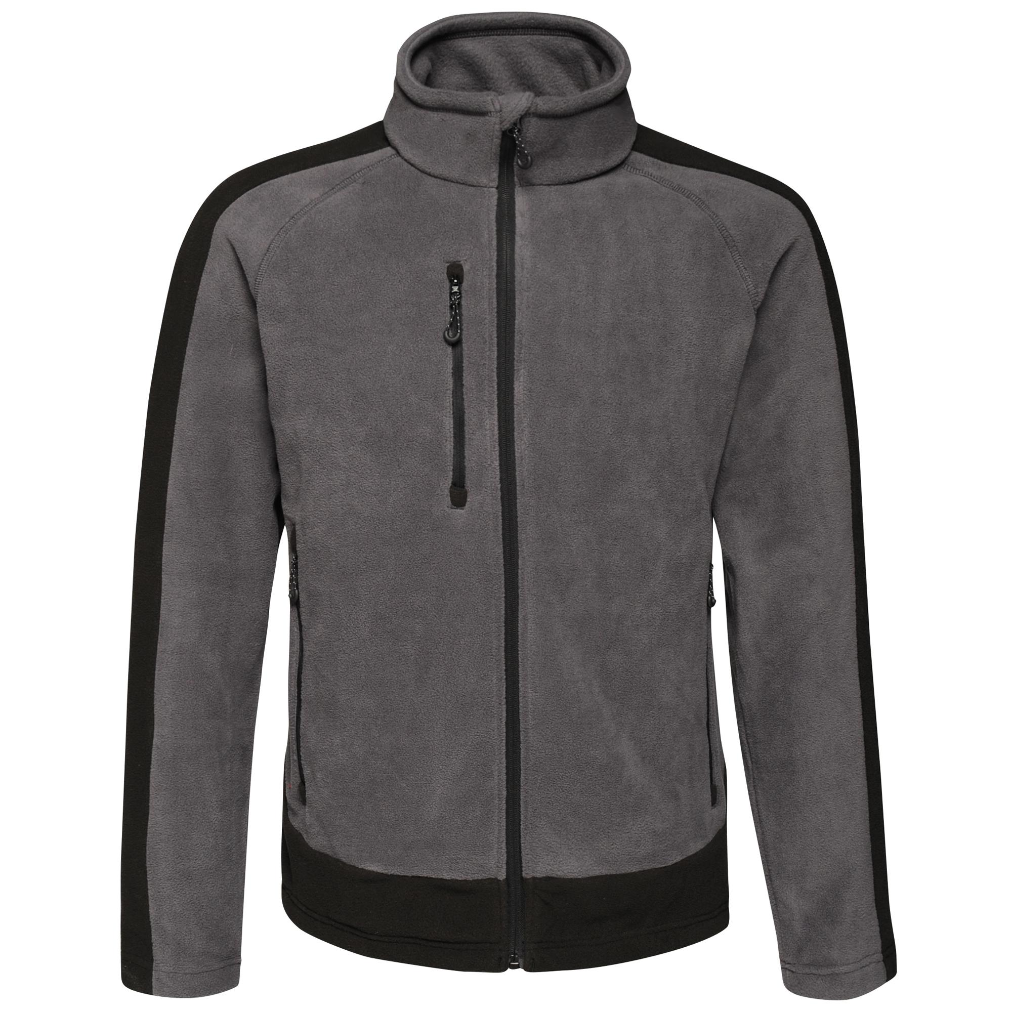 Regatta Contrast Mens 300 Fleece Top/Jacket (2XL) (Seal/Black)