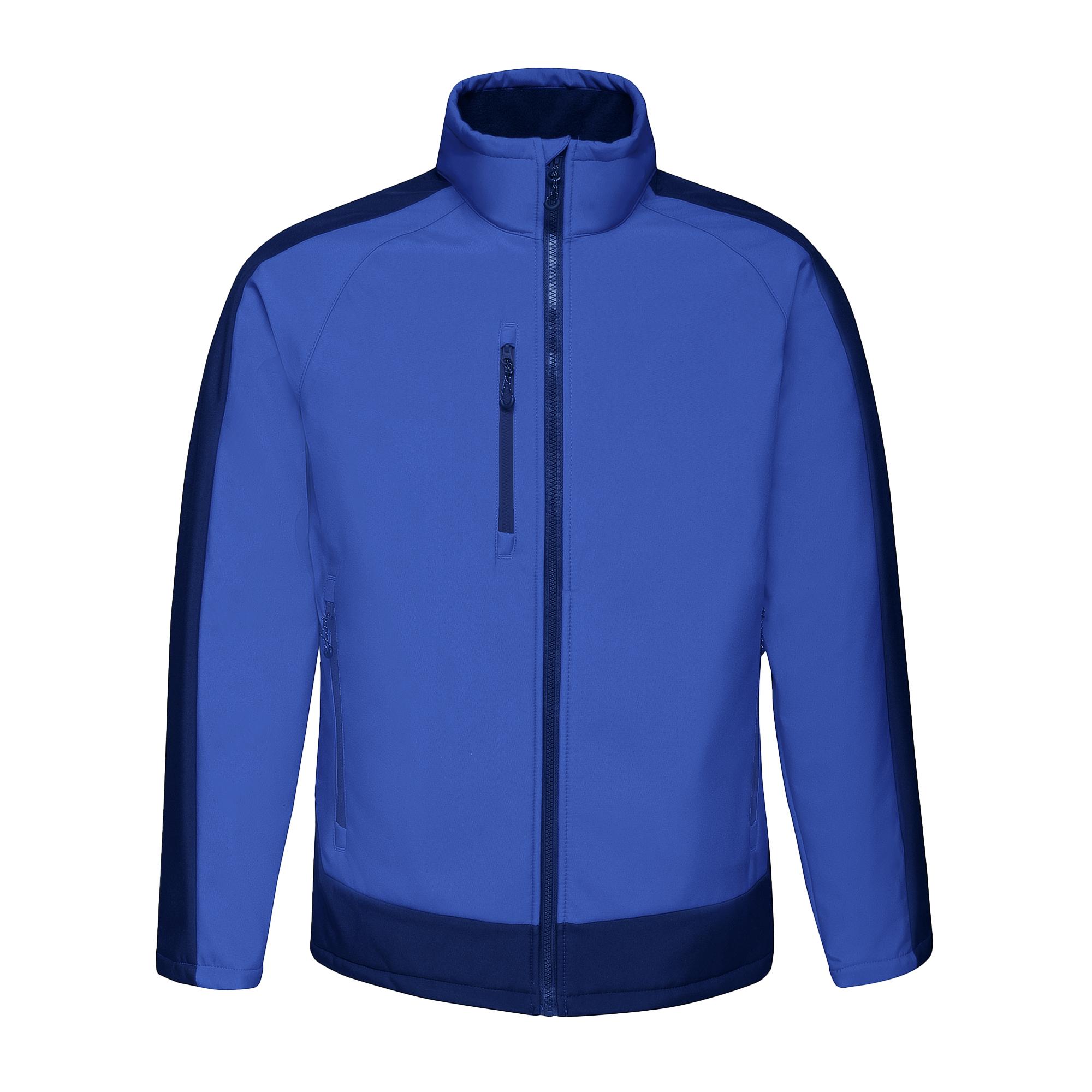 Regatta Contrast Mens 3-Layer Printable Softshell Jacket (4XL) (Seal/Black)