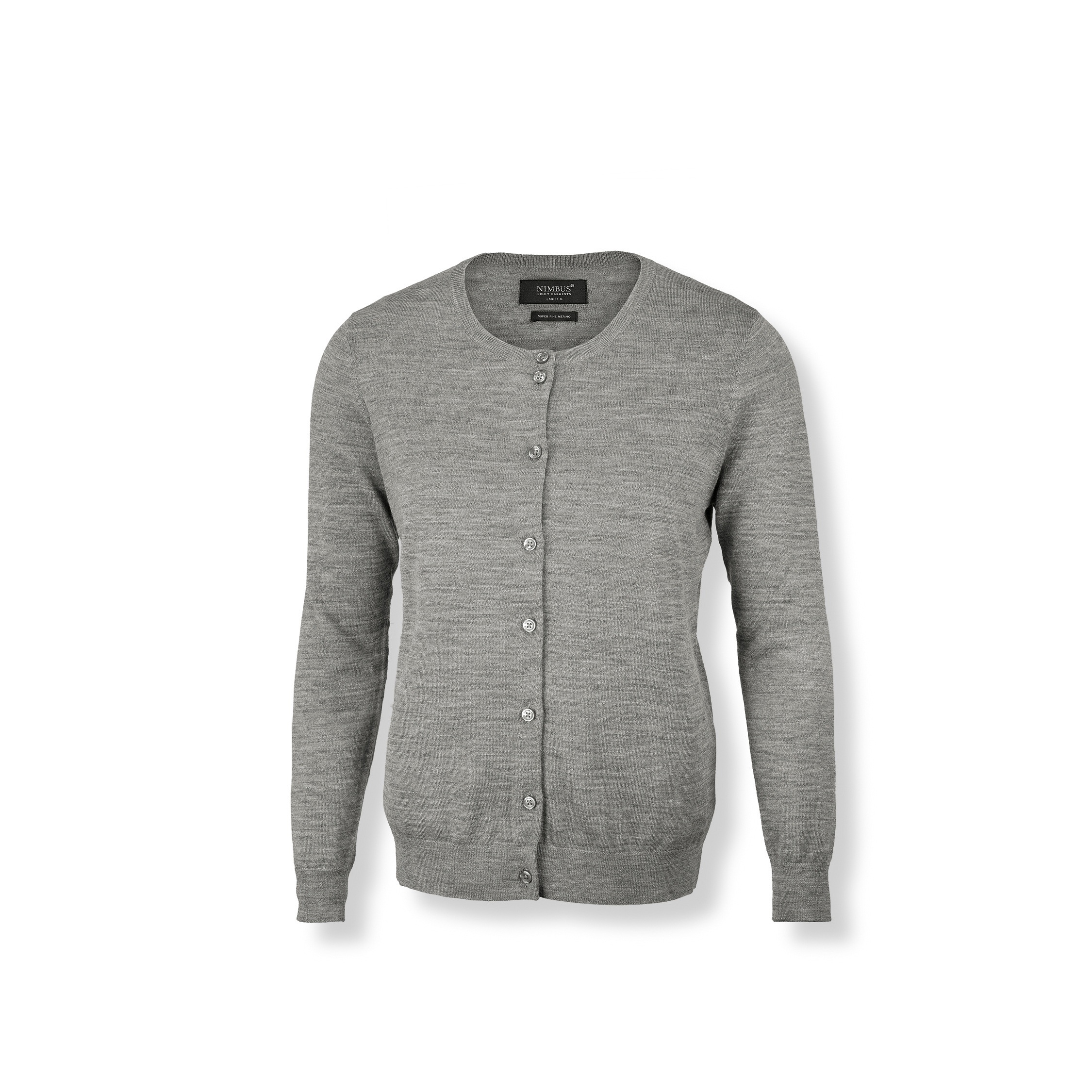 Nimbus Womens/Ladies Phoenix Knitted Cardigan (S) (Grey Melange)