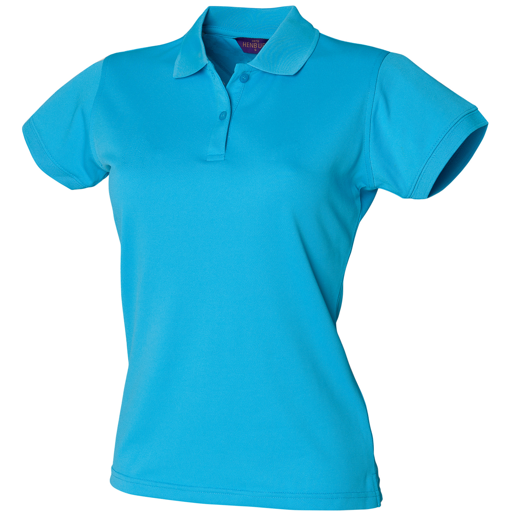Henbury Womens/Ladies Coolplus® Fitted Polo Shirt (XS) (Turquoise)