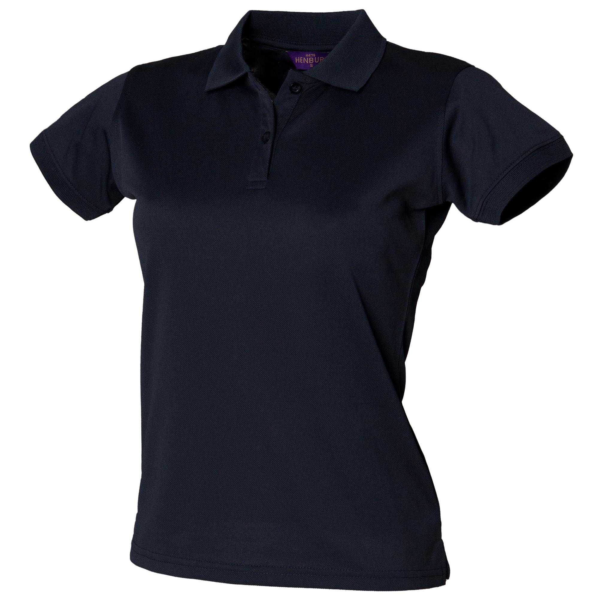 Henbury Womens/Ladies Coolplus® Fitted Polo Shirt (XS) (Sapphire Blue)