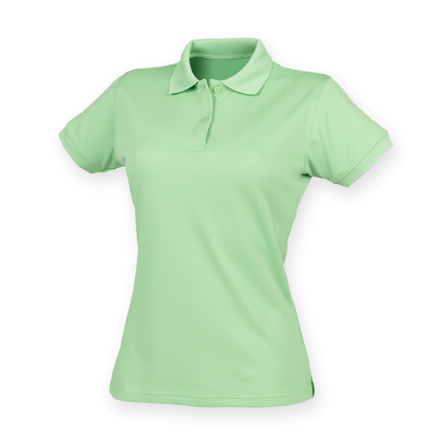 Henbury Womens/Ladies Coolplus® Fitted Polo Shirt (2XL) (Lime Green)