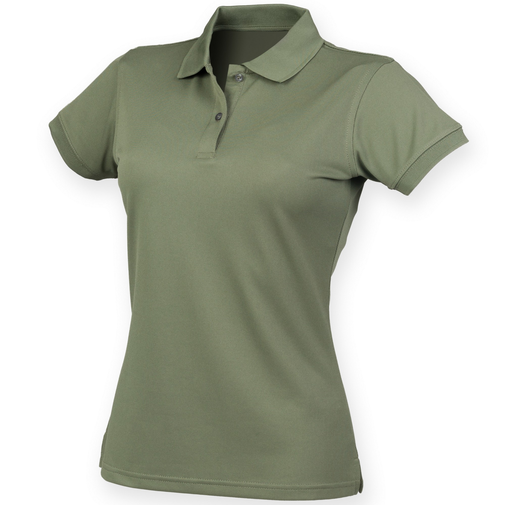 Henbury Womens/Ladies Coolplus® Fitted Polo Shirt (M) (Olive)
