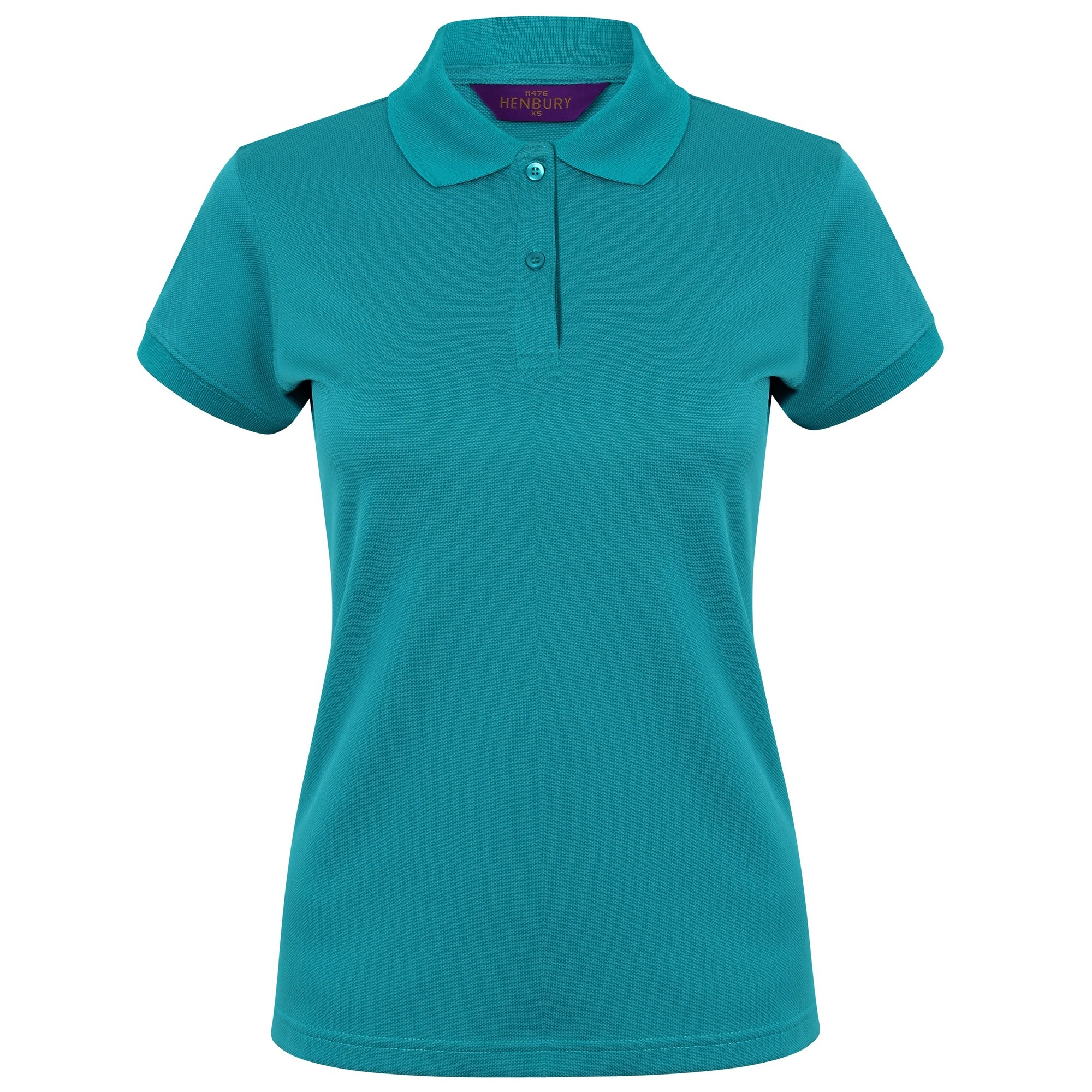 Henbury Womens/Ladies Coolplus® Fitted Polo Shirt (2XL) (Bright Jade)