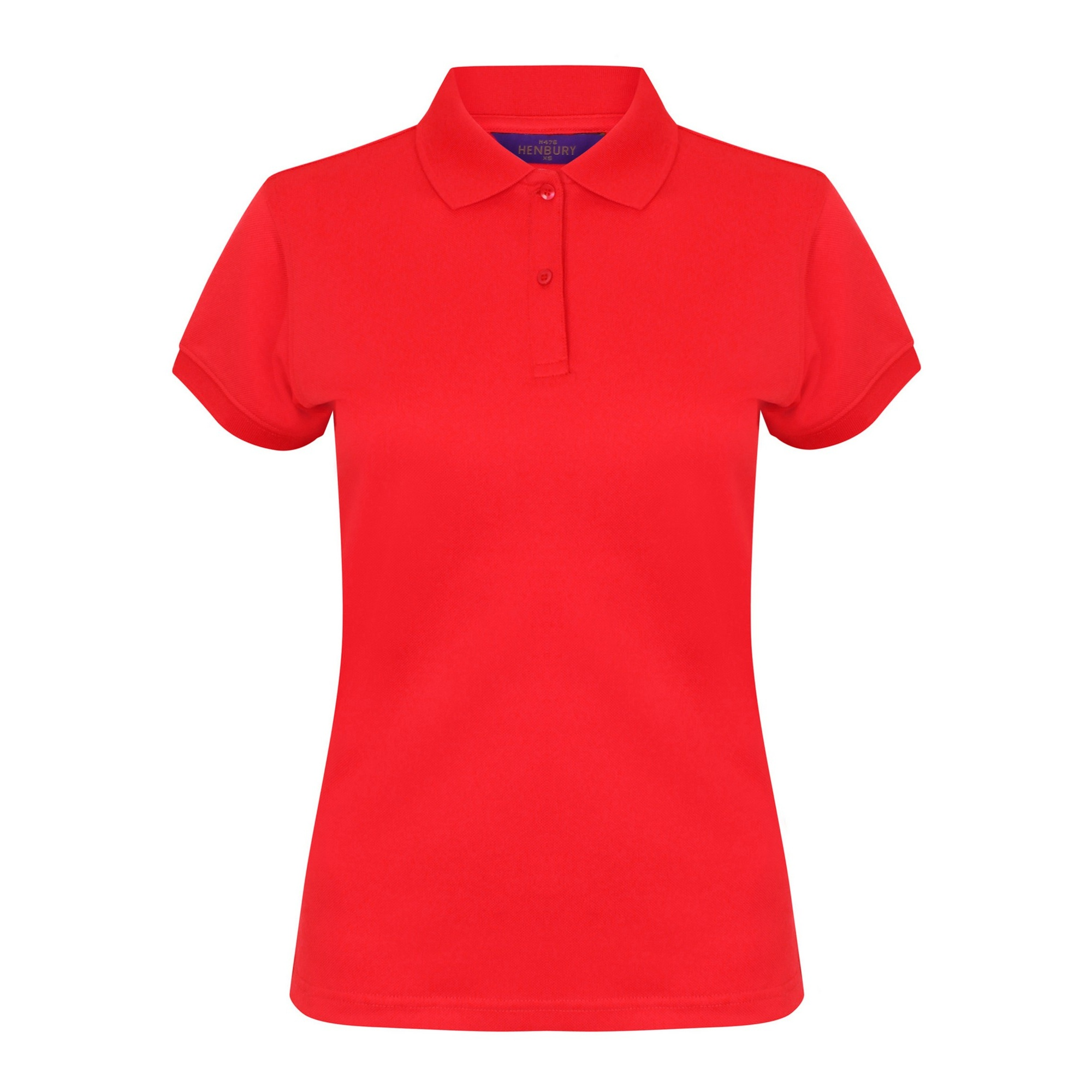 Henbury Womens/Ladies Coolplus® Fitted Polo Shirt (3XL) (Red)