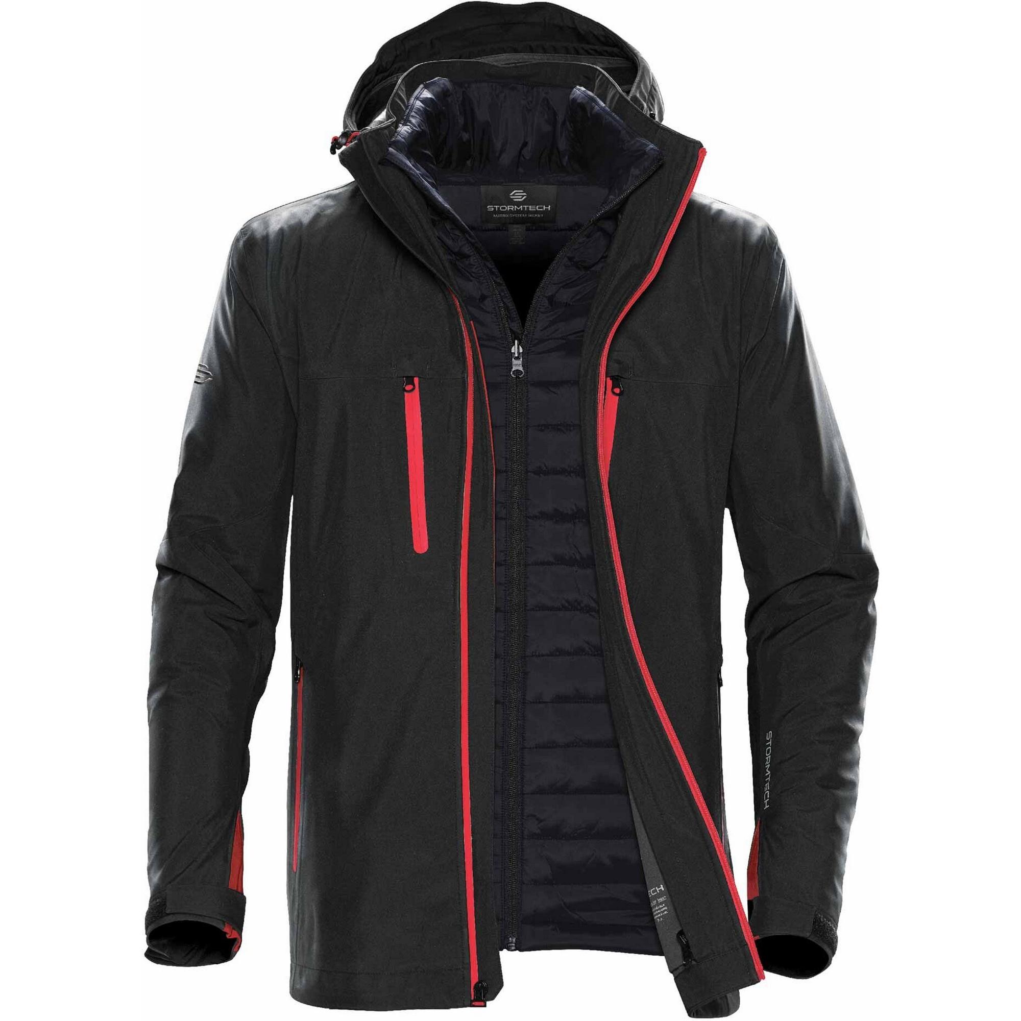 Stormtech Mens Matrix System Jacket (M) (Black/Red)