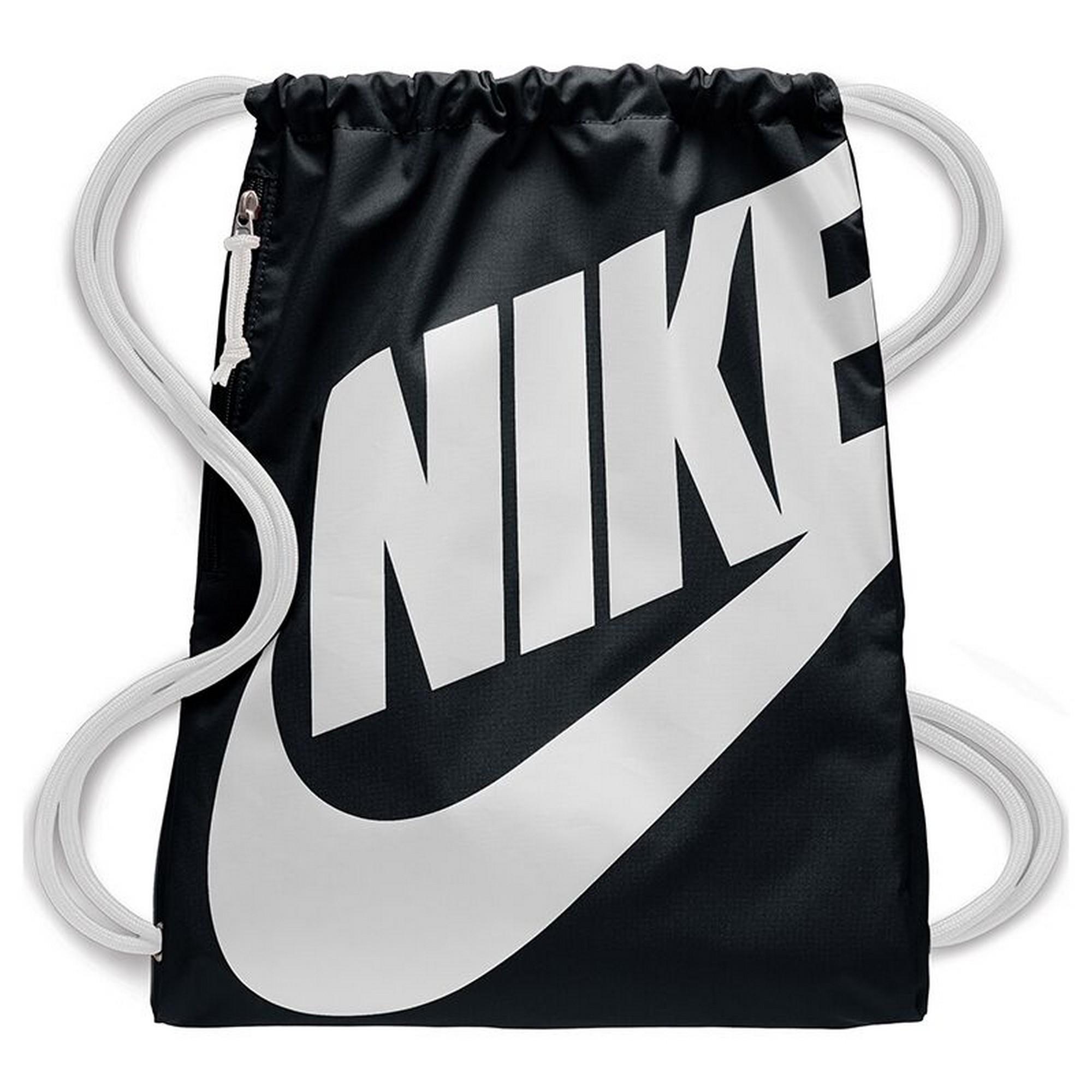Nike Heritage Gym Bag (One Size) (Black/White)