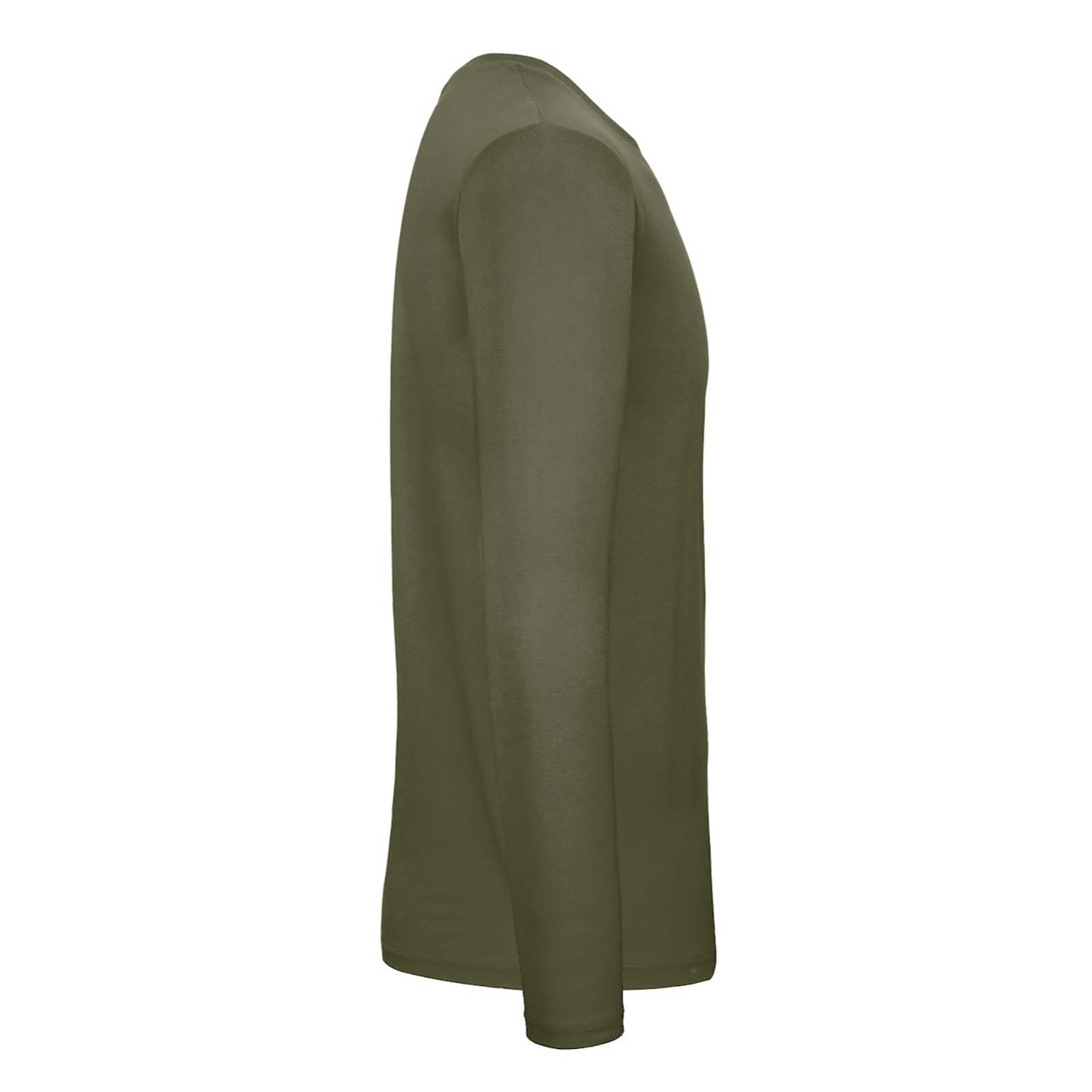 B&C Mens #E150 Long Sleeve T-Shirt (4XL) (Sport Grey)