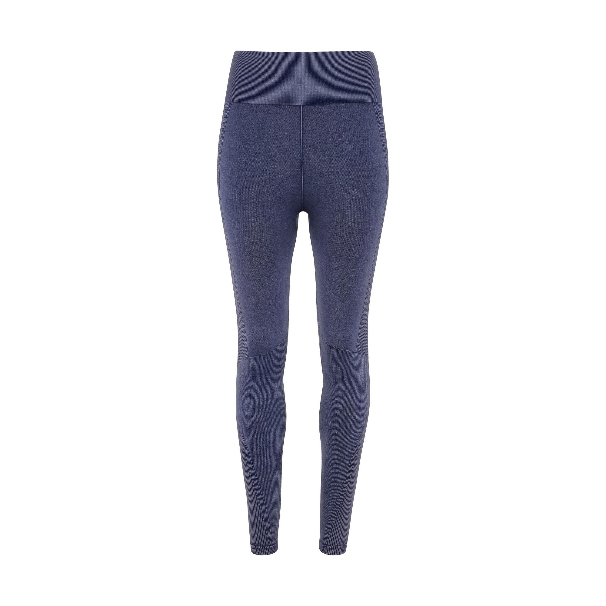 TriDri Womens/Ladies Seamless 3D Fit Multi Sport Denim Look Leggings (L) (Indigo Denim)