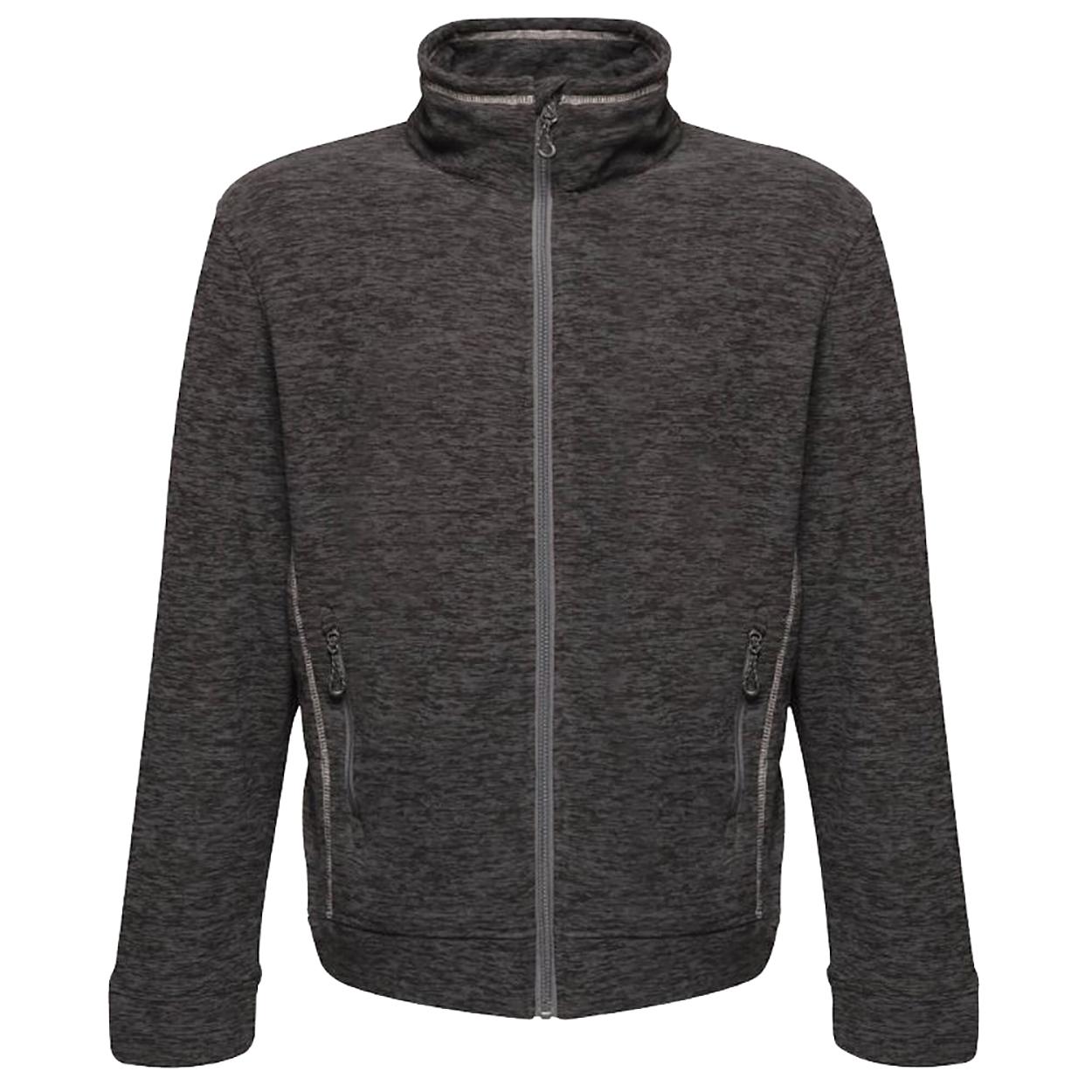Regatta Mens Thornly Full Zip Marl Fleece Jacket (M) (Seal Grey Marl)